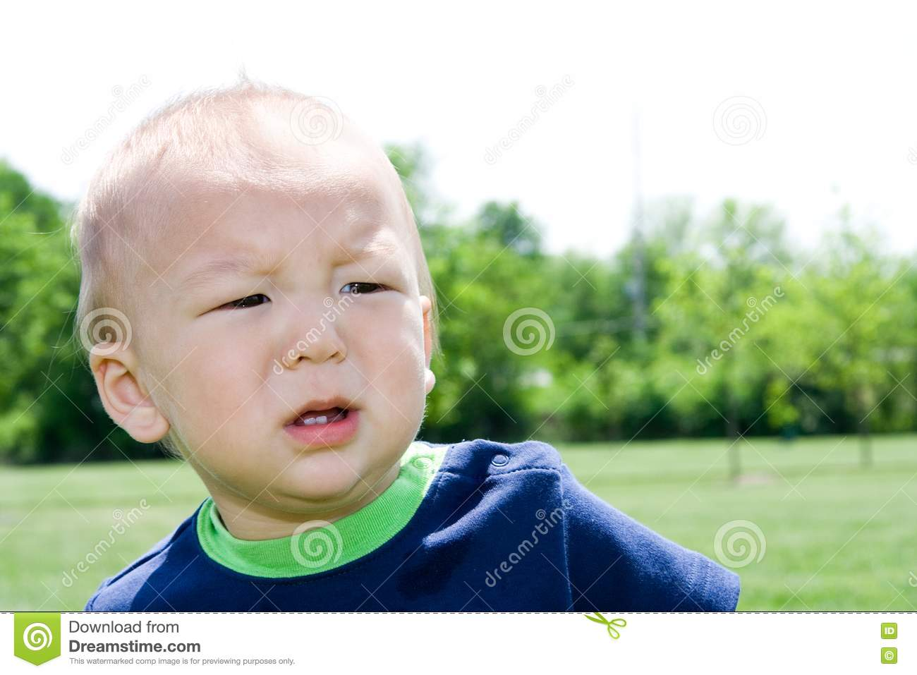Unhappy Child stock image. Image of child, confused ...