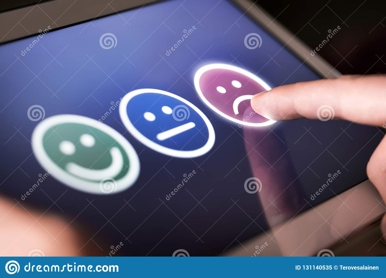 Unhappy and disappointed customer giving low rating and negative feedback in survey.