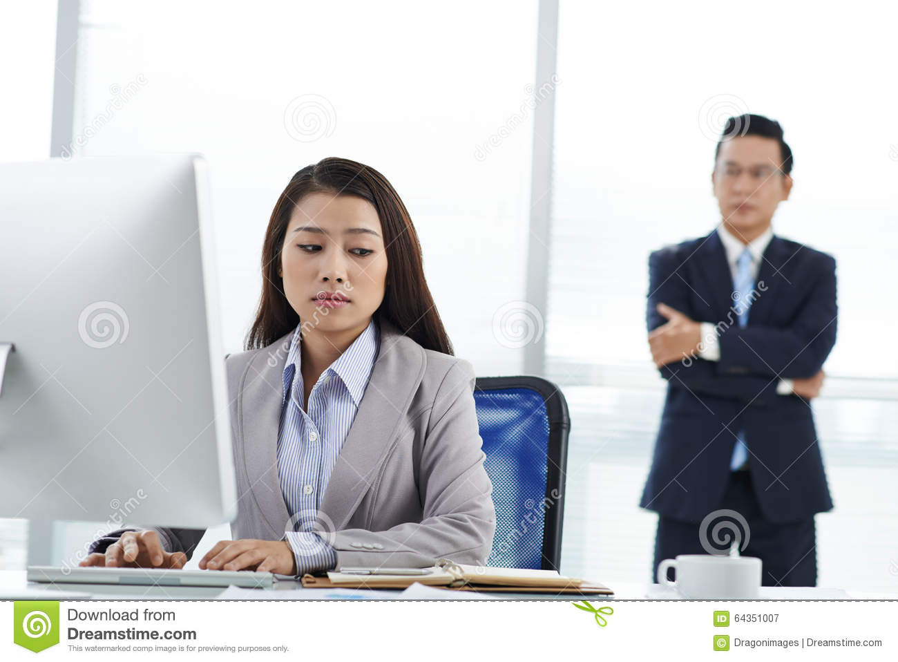 unhappy employee stock photo image 64351007 unhappy employee