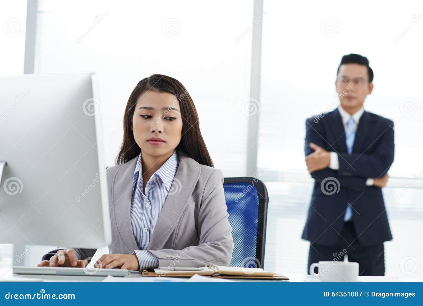 unhappy employee stock photo image  unhappy employee