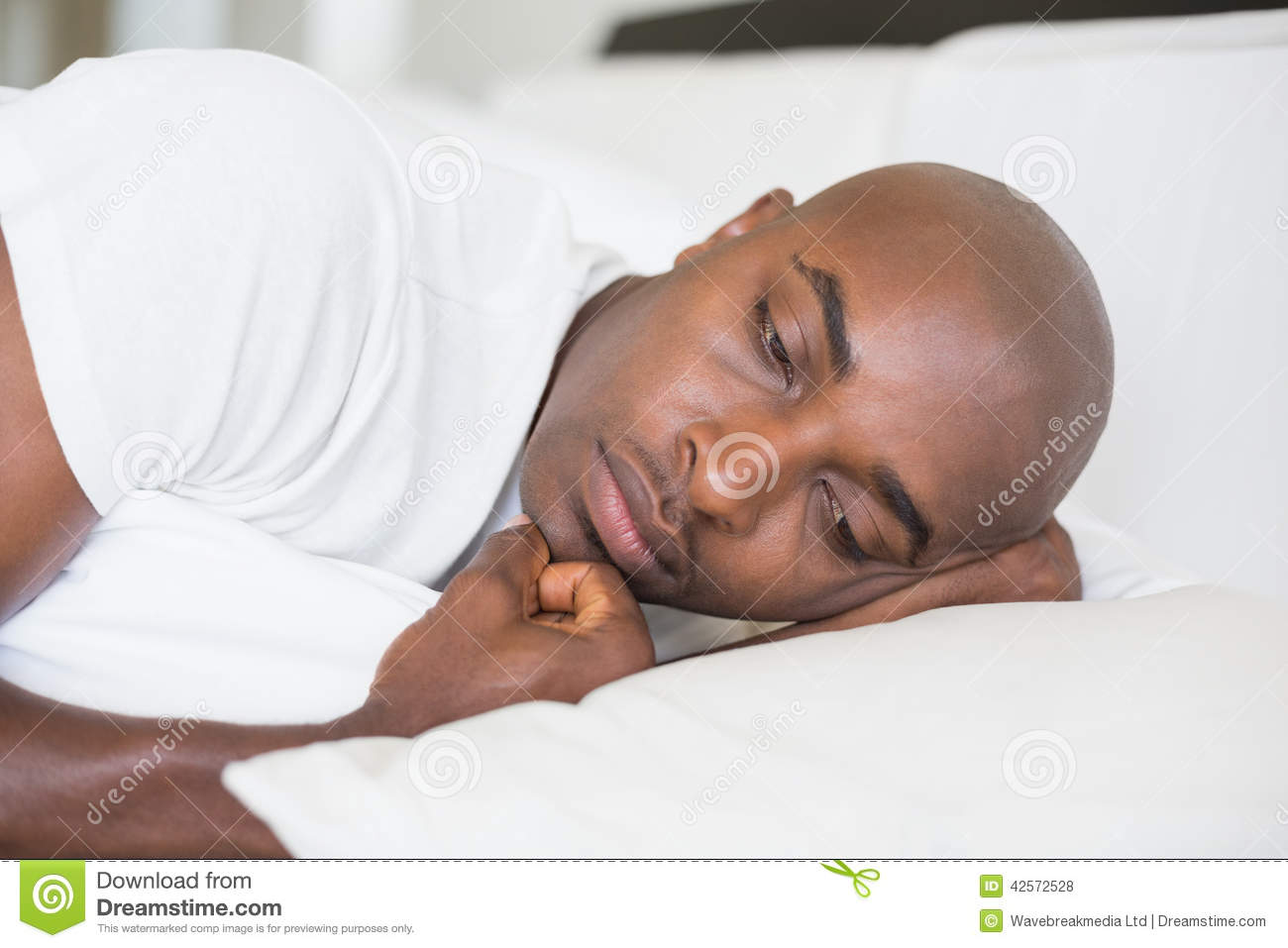 black man in bedroom