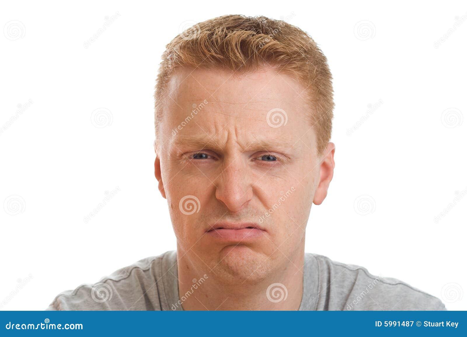 Unhappy man portrait