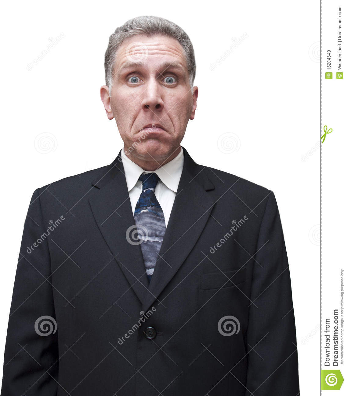 Unhappy Sad Man Male Businessman Isolated