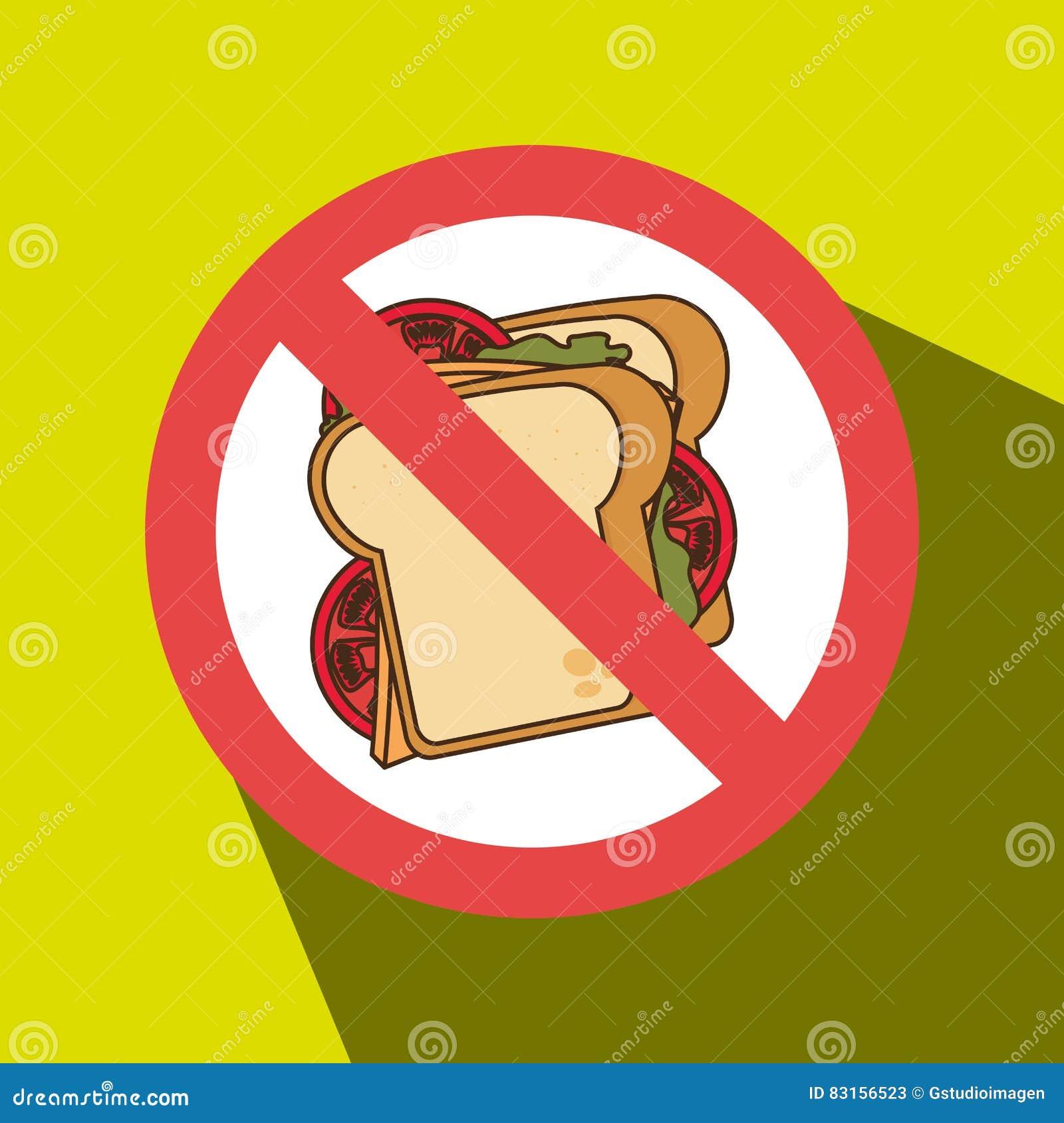 Unhealth do fast food do sanduíche proibido