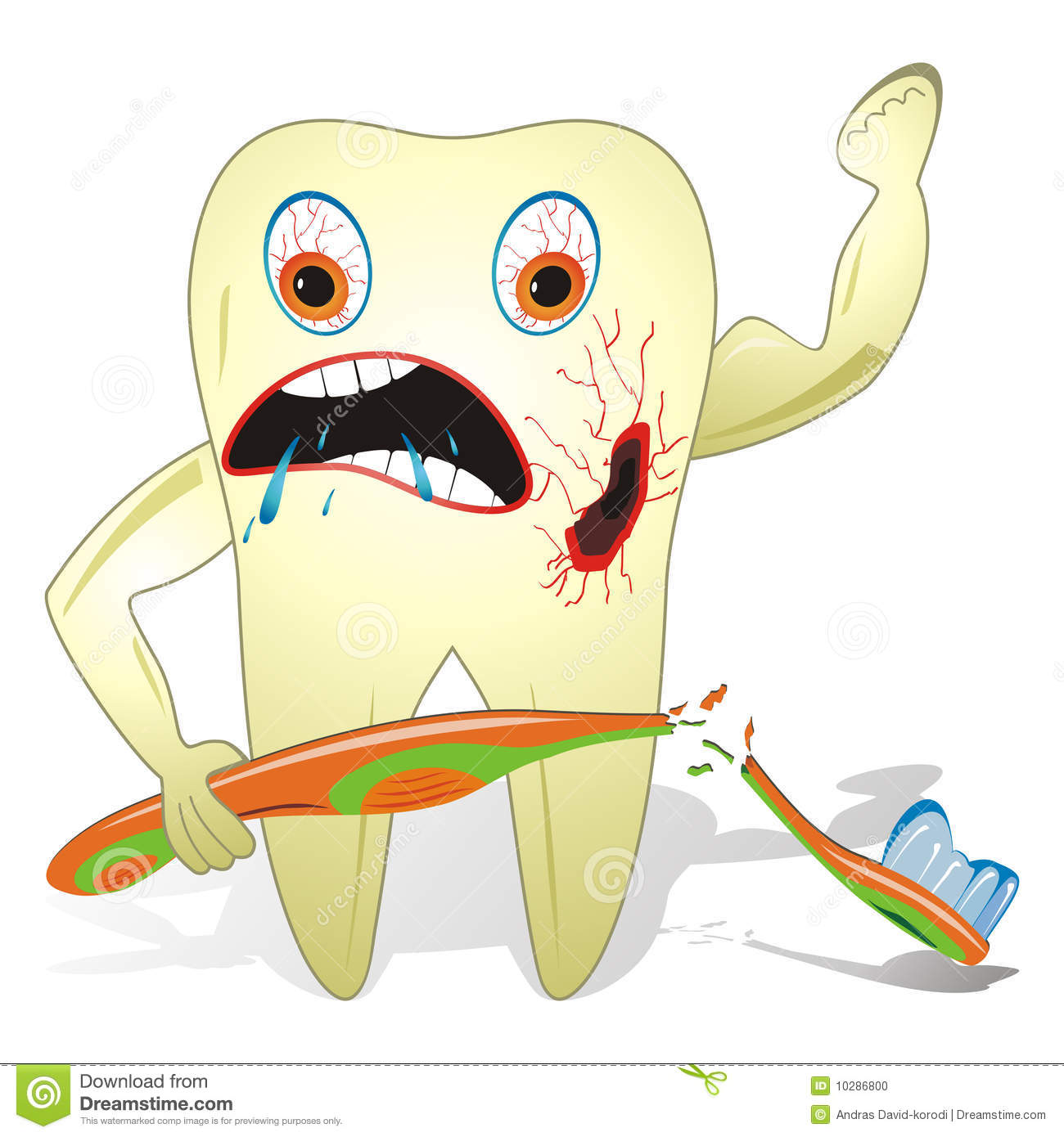 Unhealthy And Unfriendly Tooth Unfriendly Clipart
