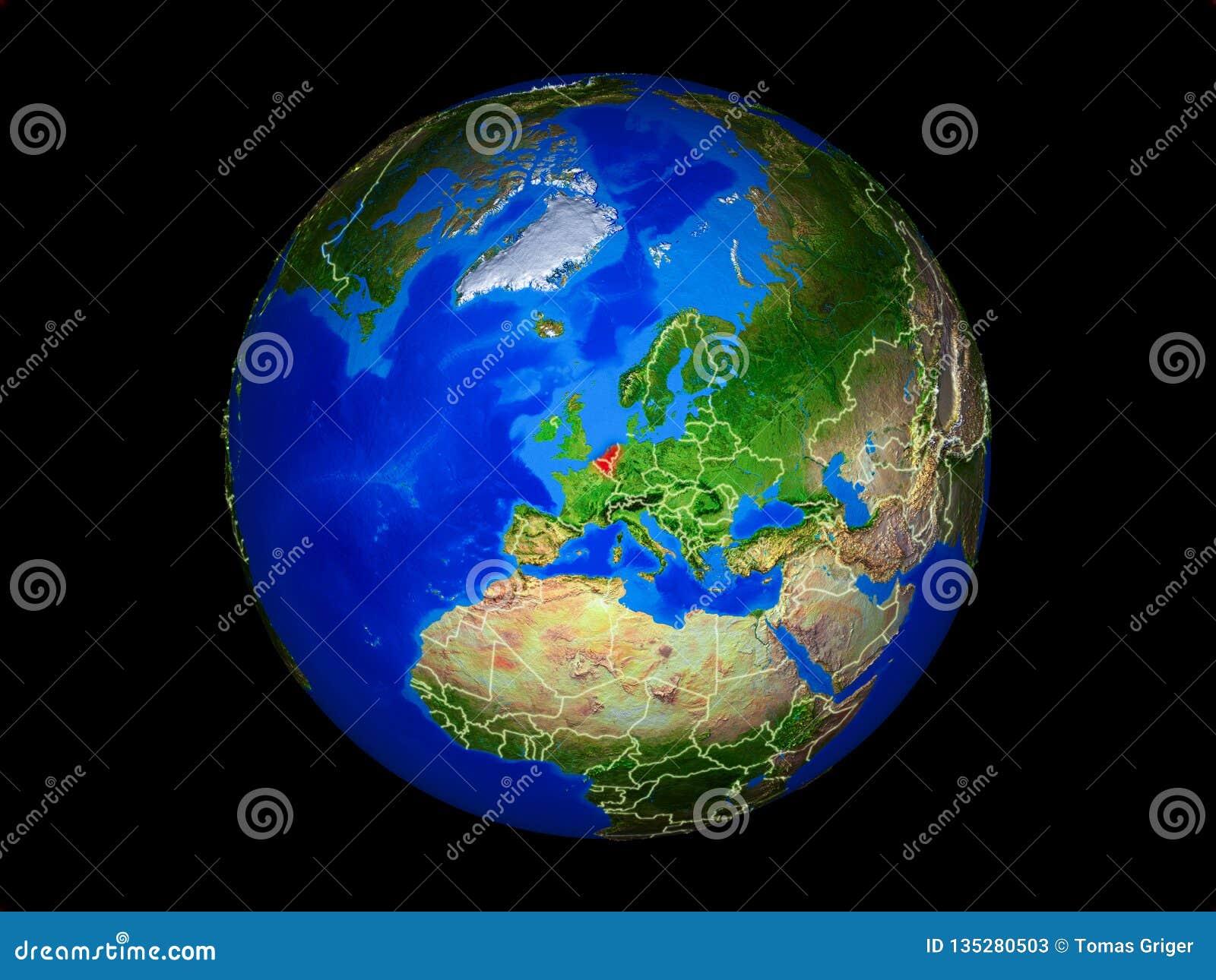 Unión de Benelux en la tierra del espacio