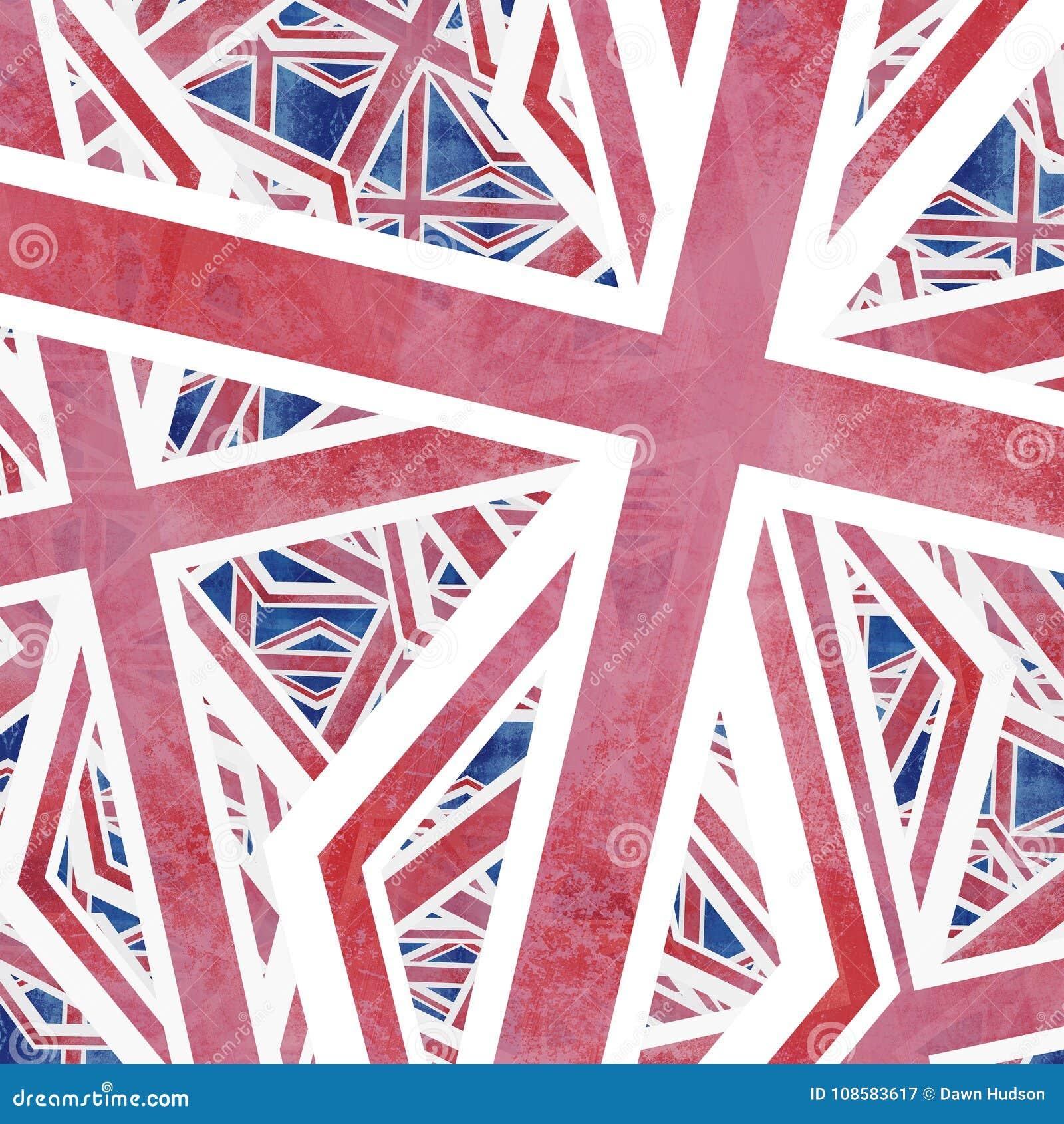 Unión Jack Flag Collage Abstract