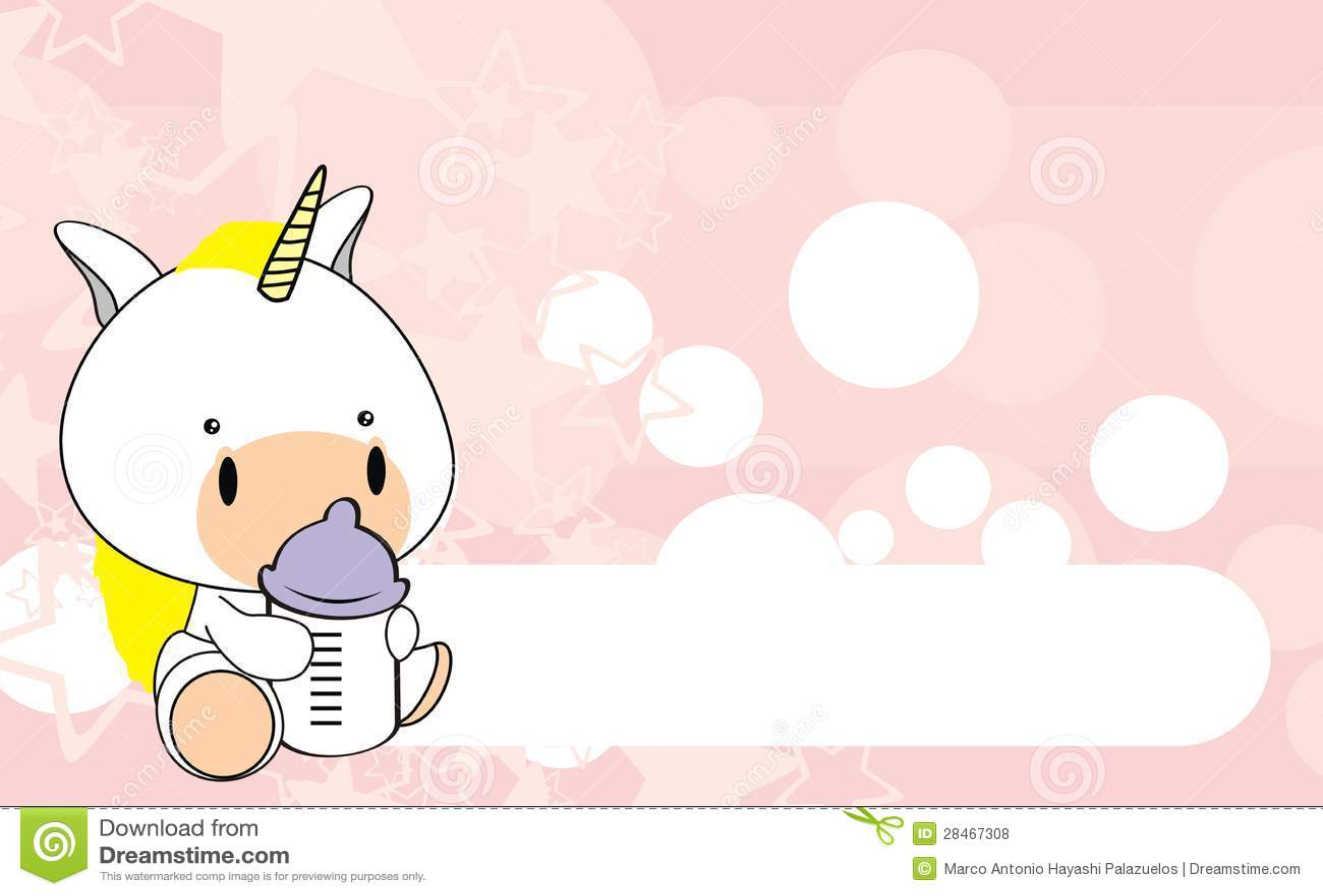 Unicorn Baby Cartoon Background1 Royalty Free Stock Photos - Image ...