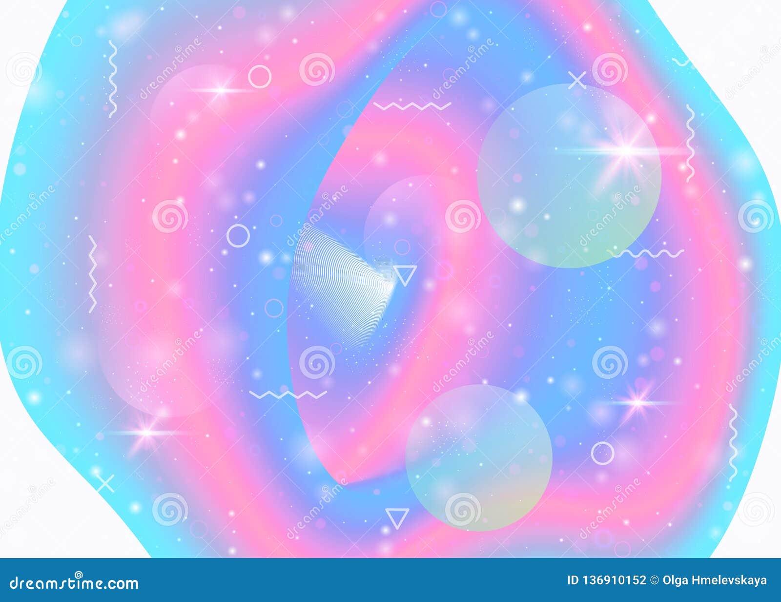 unicorn background kawaii magic gradient princess rainbow hologram fluorescent universe banner cute colors holographic 136910152