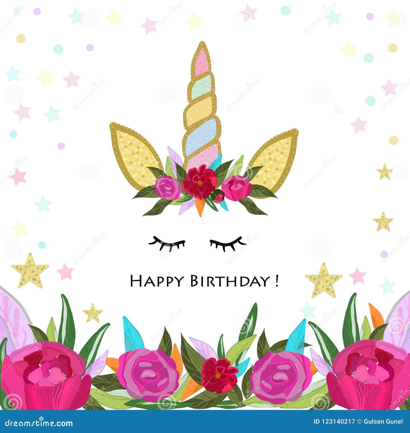 Unicorn Birthday Invitation. Magical Unicorn Birthday ...