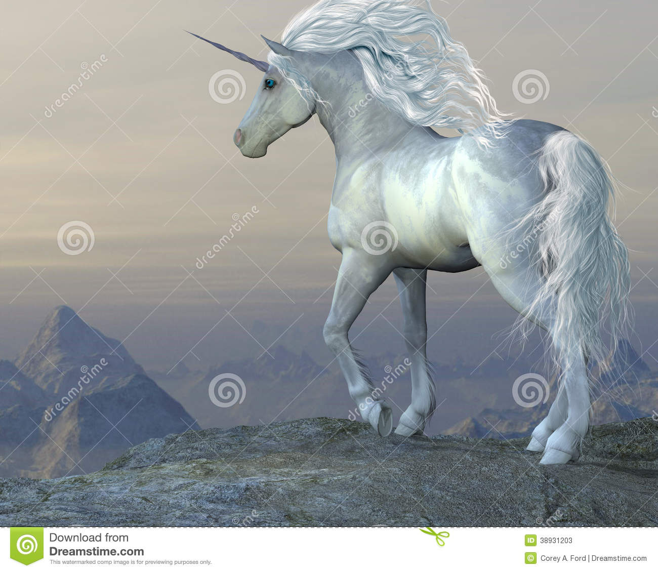 Unicorn Bluff Stock Illustration Image Of Bluff Mammal 38931203