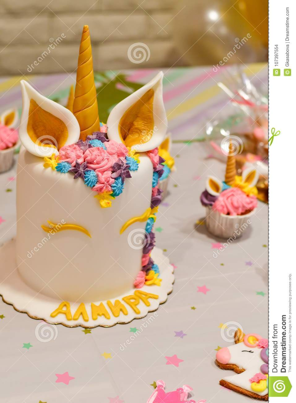 Unicorn Cake Cupcakes For A Party