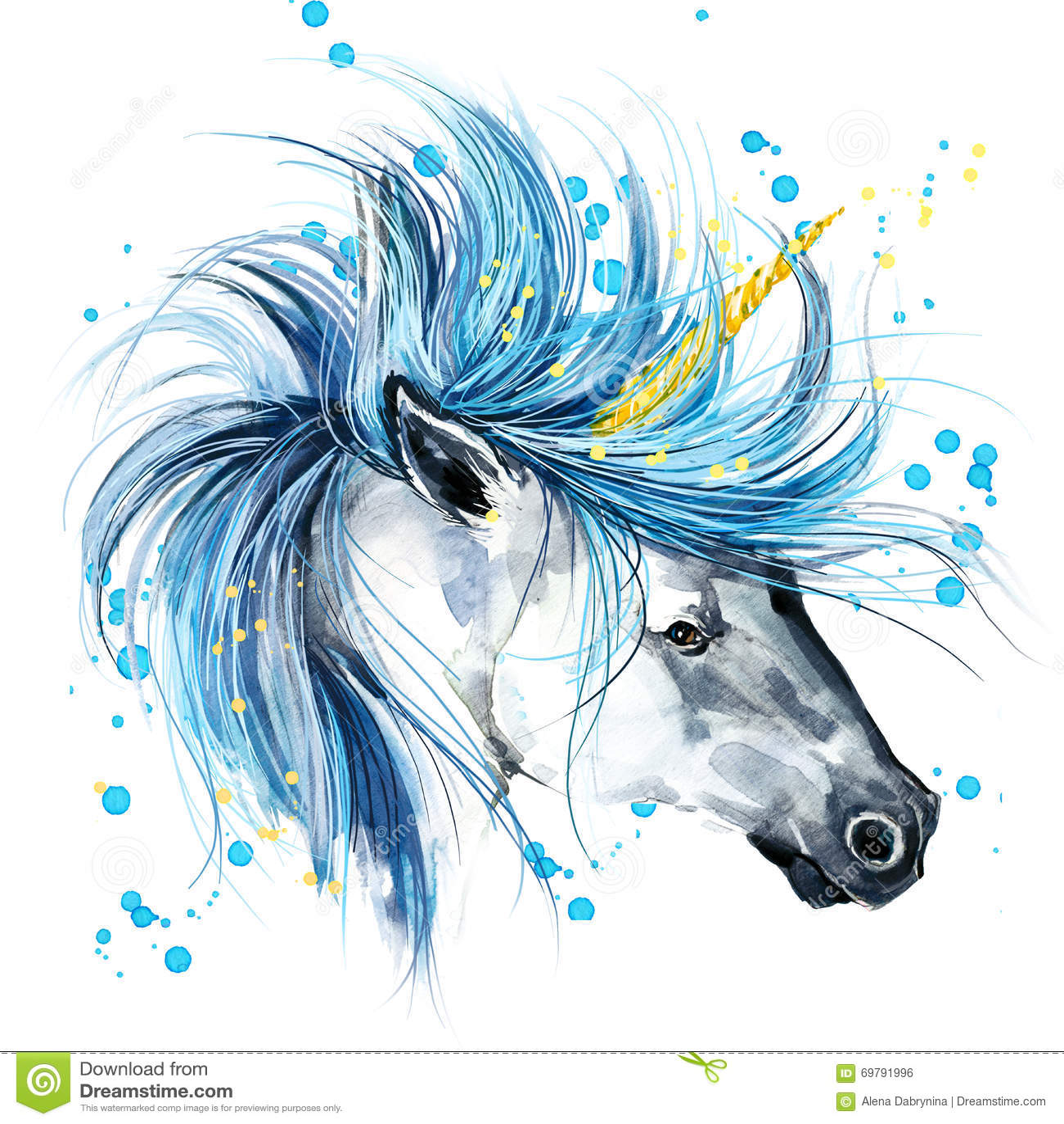 unicorn einhornaquarellillustration magisches einhorn