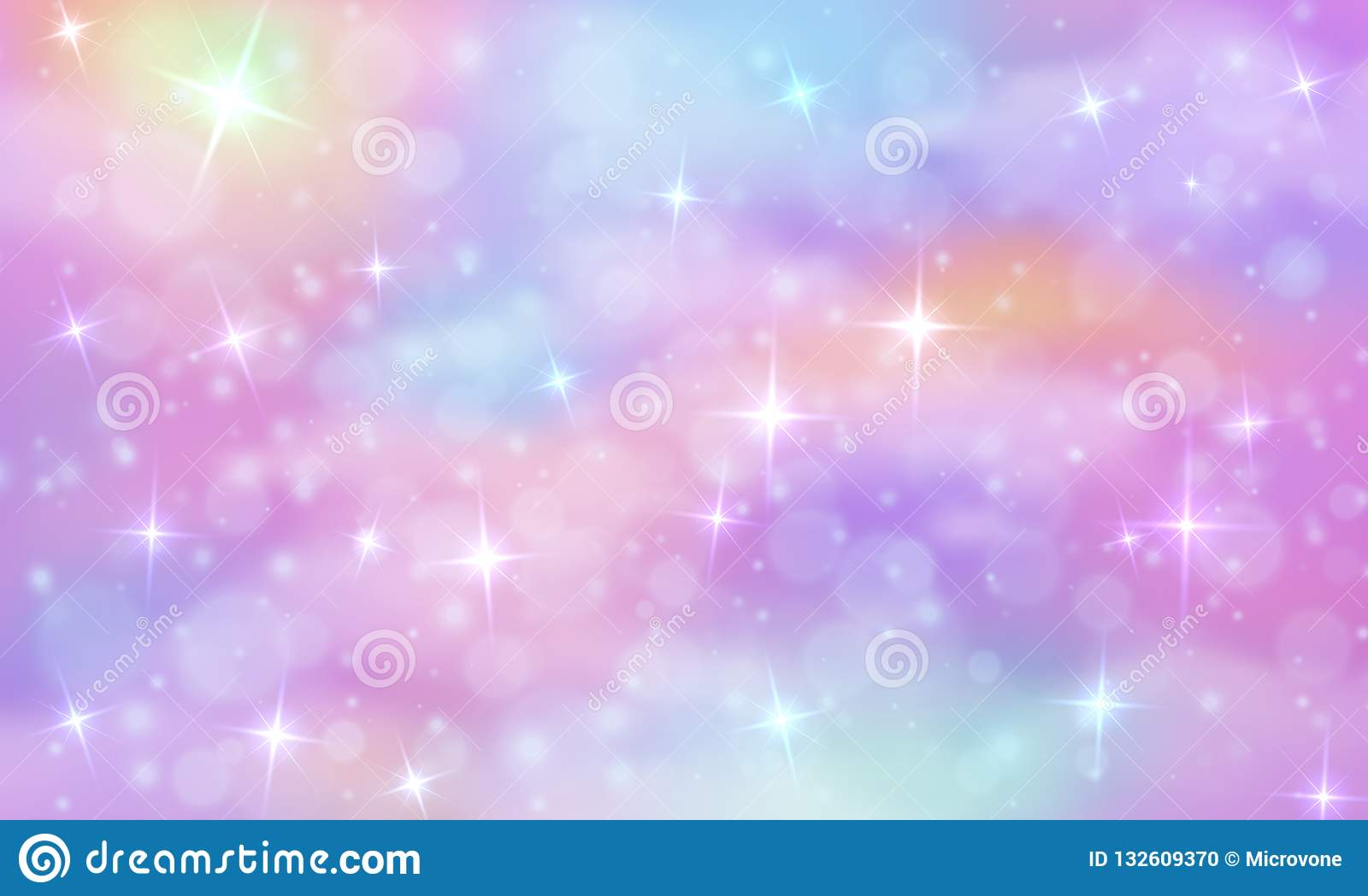 unicorn fantasy background rainbow sky glittering stars abstract galaxy mermaid princess marble vector magic texture universe 132609370