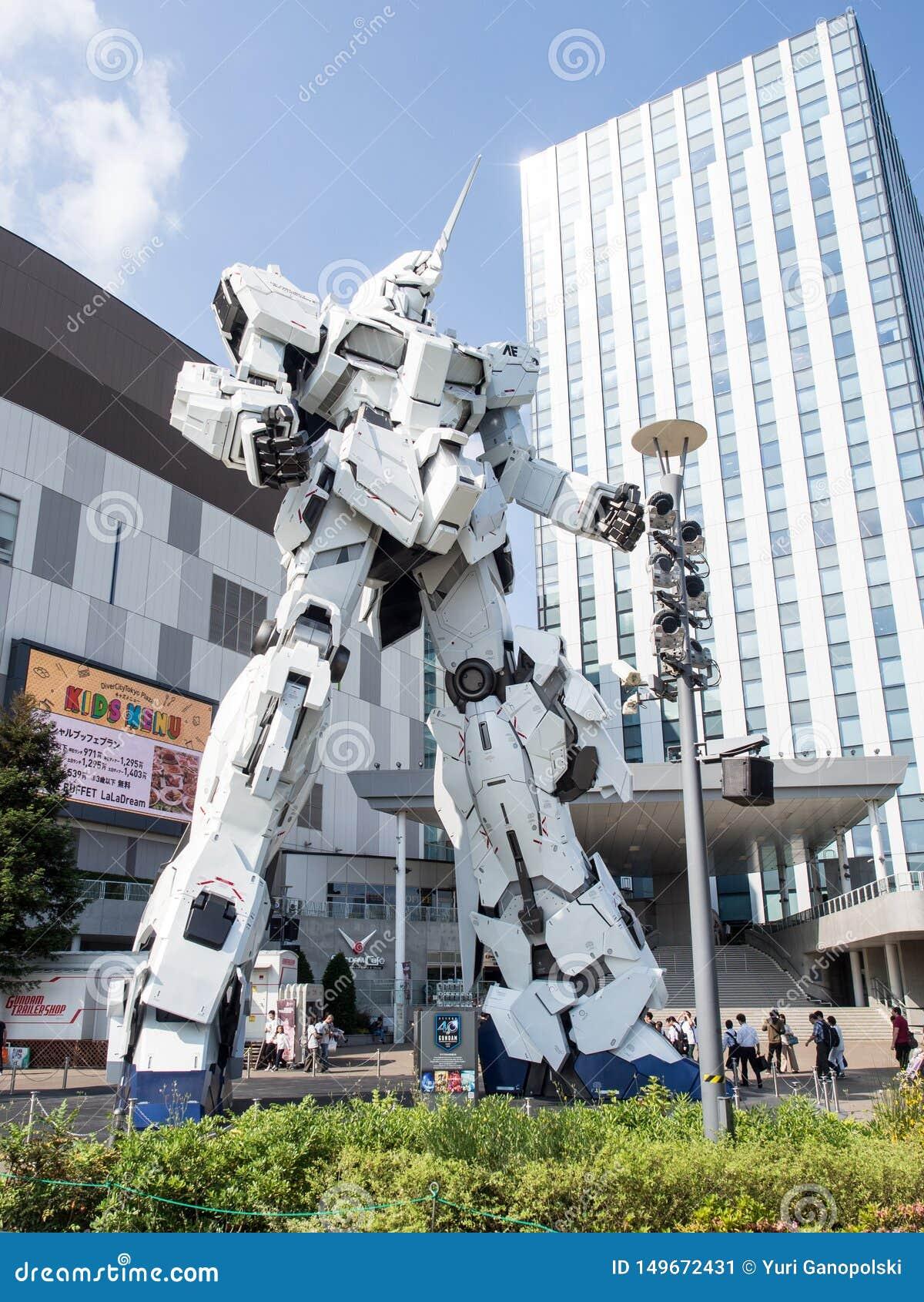 Unicorn Gandam Statue, Odaiba, Tokyo, Japon