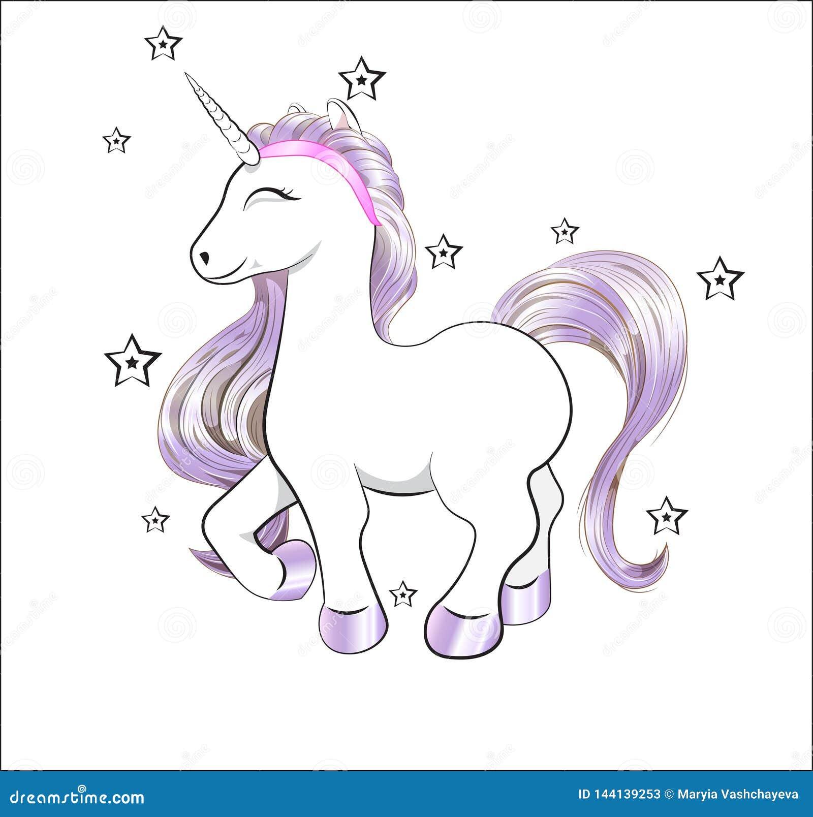 unicorn happy birthday card stock vector  illustration of