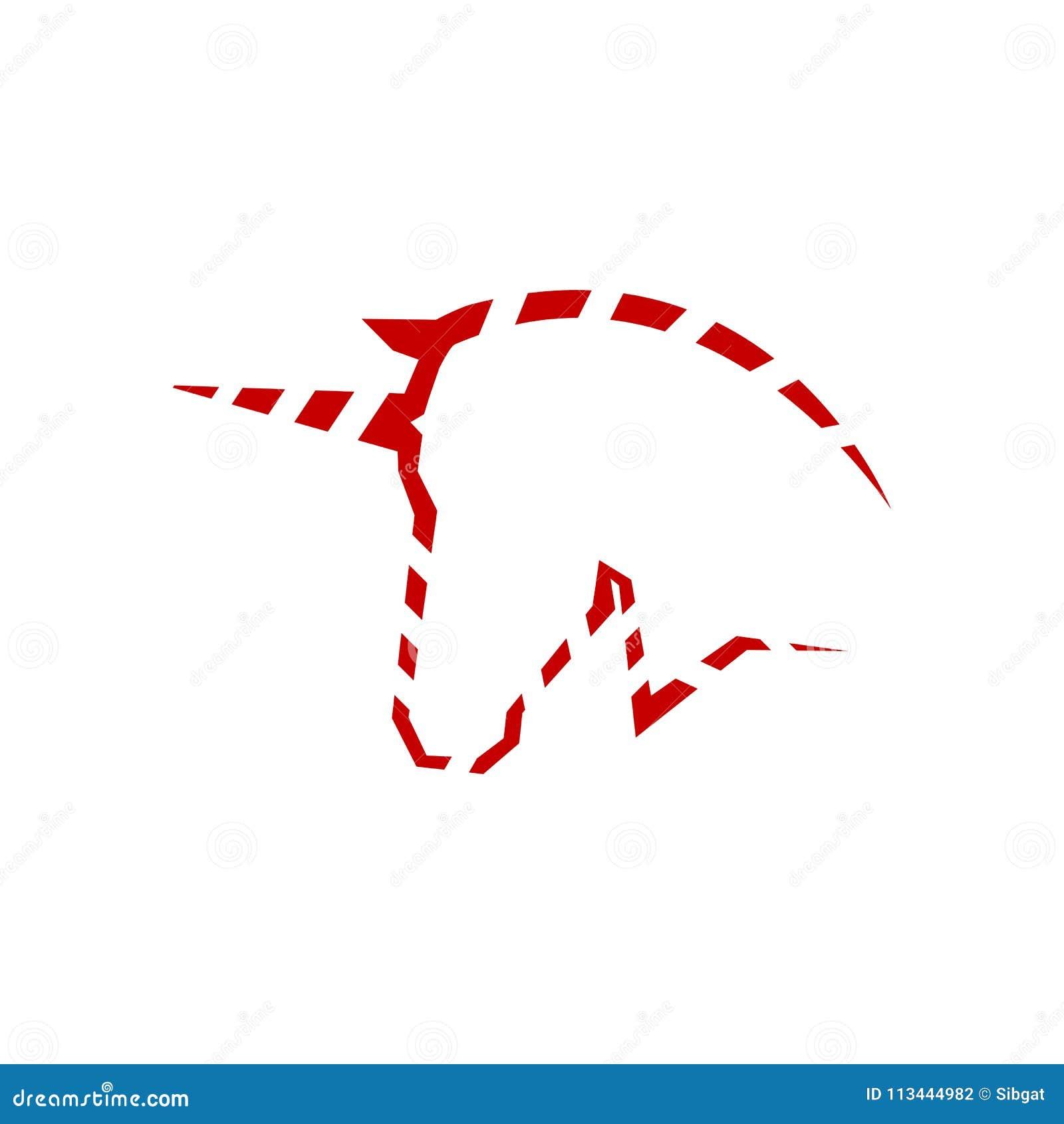 unicorn head logo symbol stock vector illustration of wild 113444982