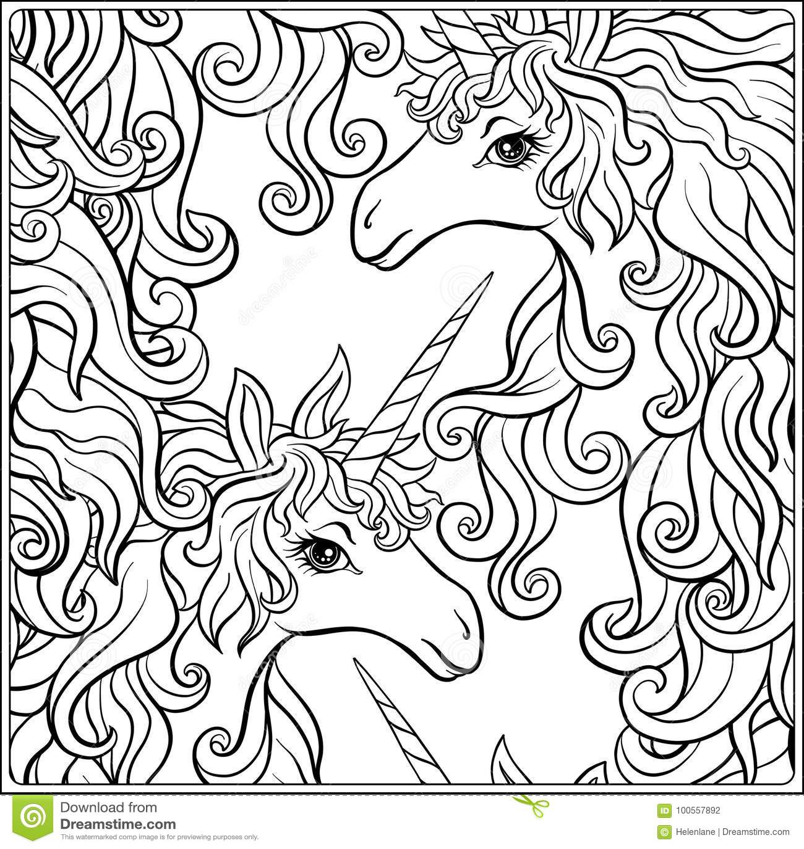 Unicorn La Composicion Consiste En Un Unicornio Rodeada Por Un Ramo