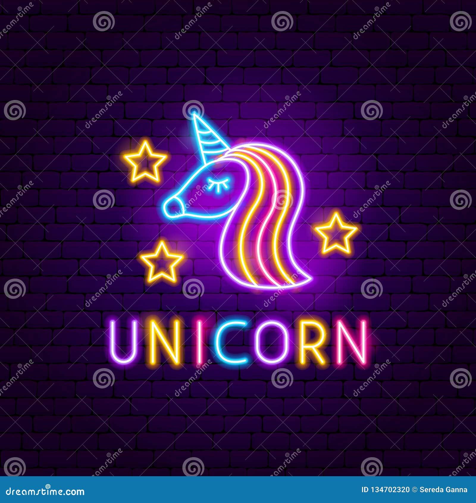 Unicorn Neon Label