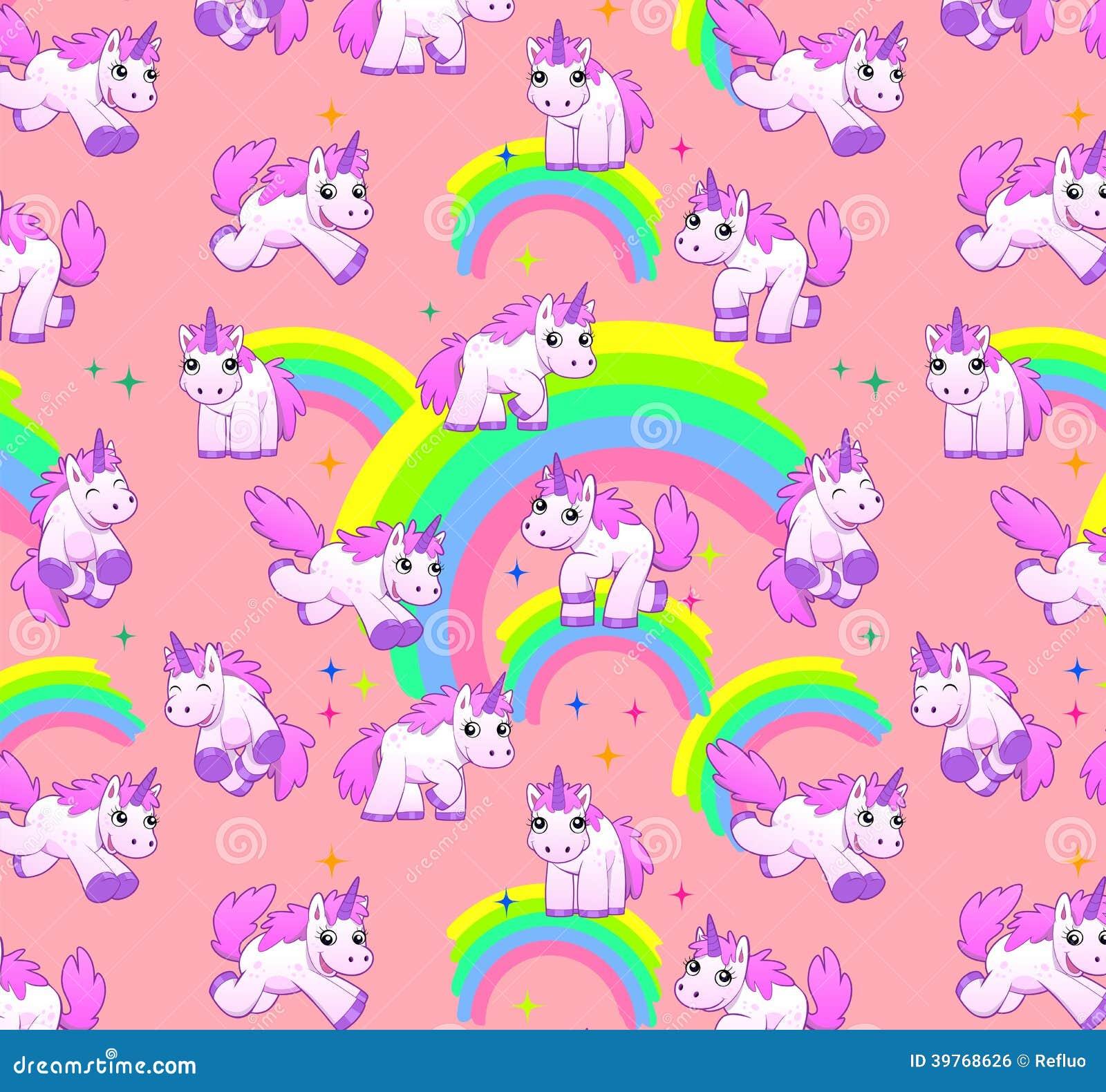 Unicorn pattern pink Unicorn Background