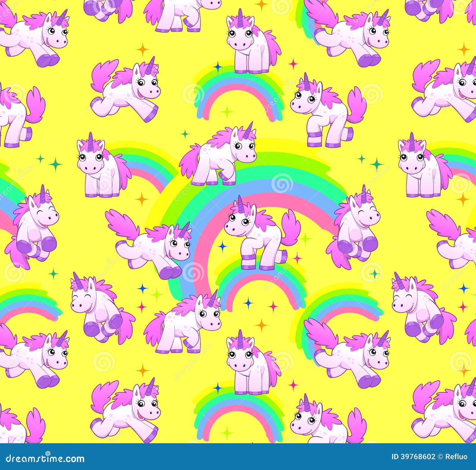 Unicorn Pattern Yellow...