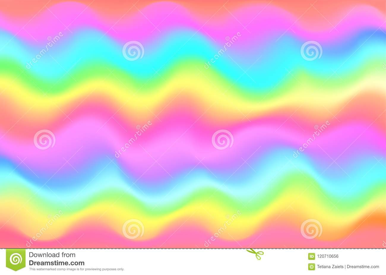 unicorn rainbow wave background mermaid galaxy pattern pastel pink blue green yellow violet purple color vector illustration