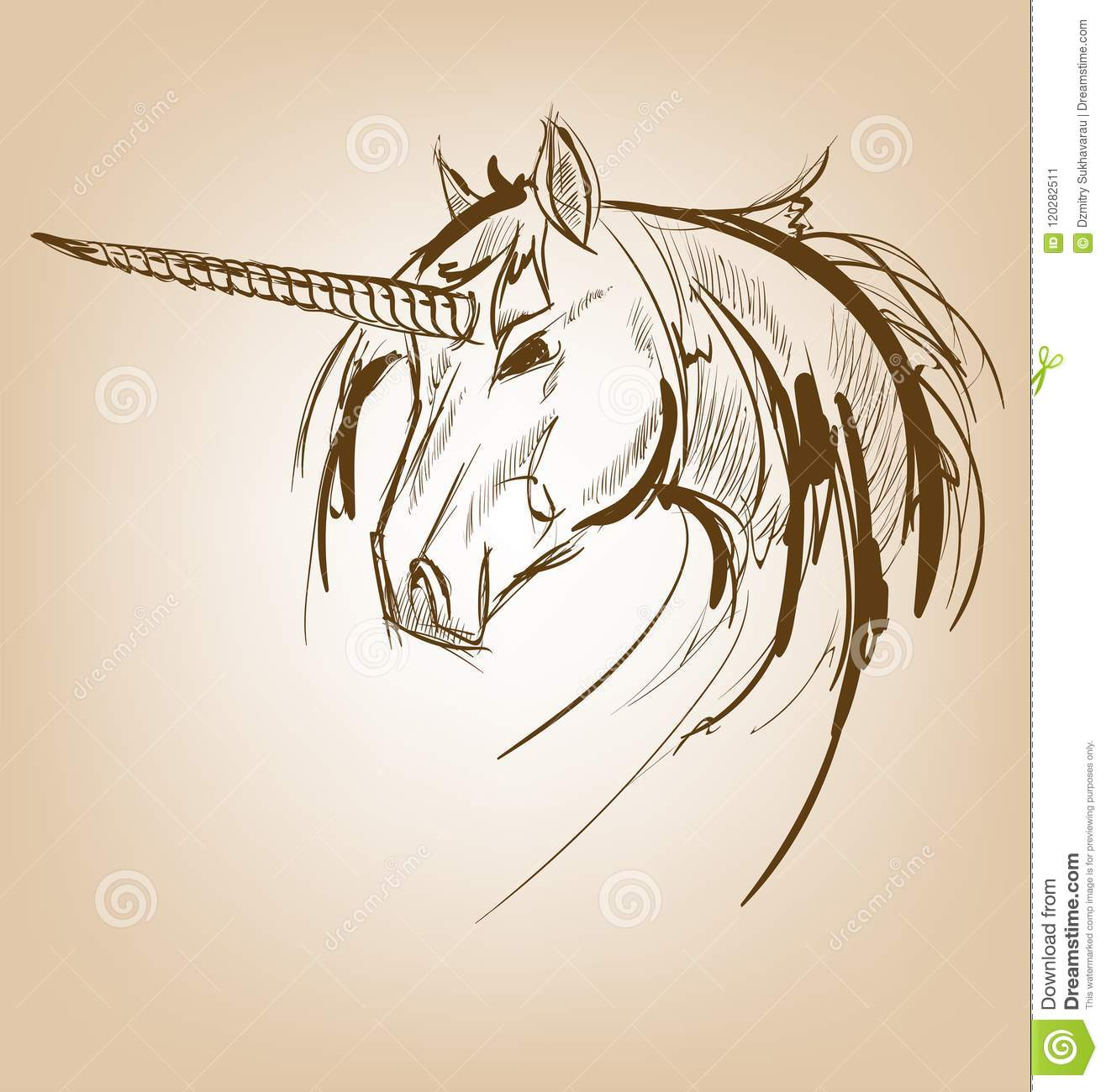Unicorn Sketch Icon Vector Magic Or Mystic Fairy Horse Stock Illustration Illustration Of Beautiful Horn 120282511