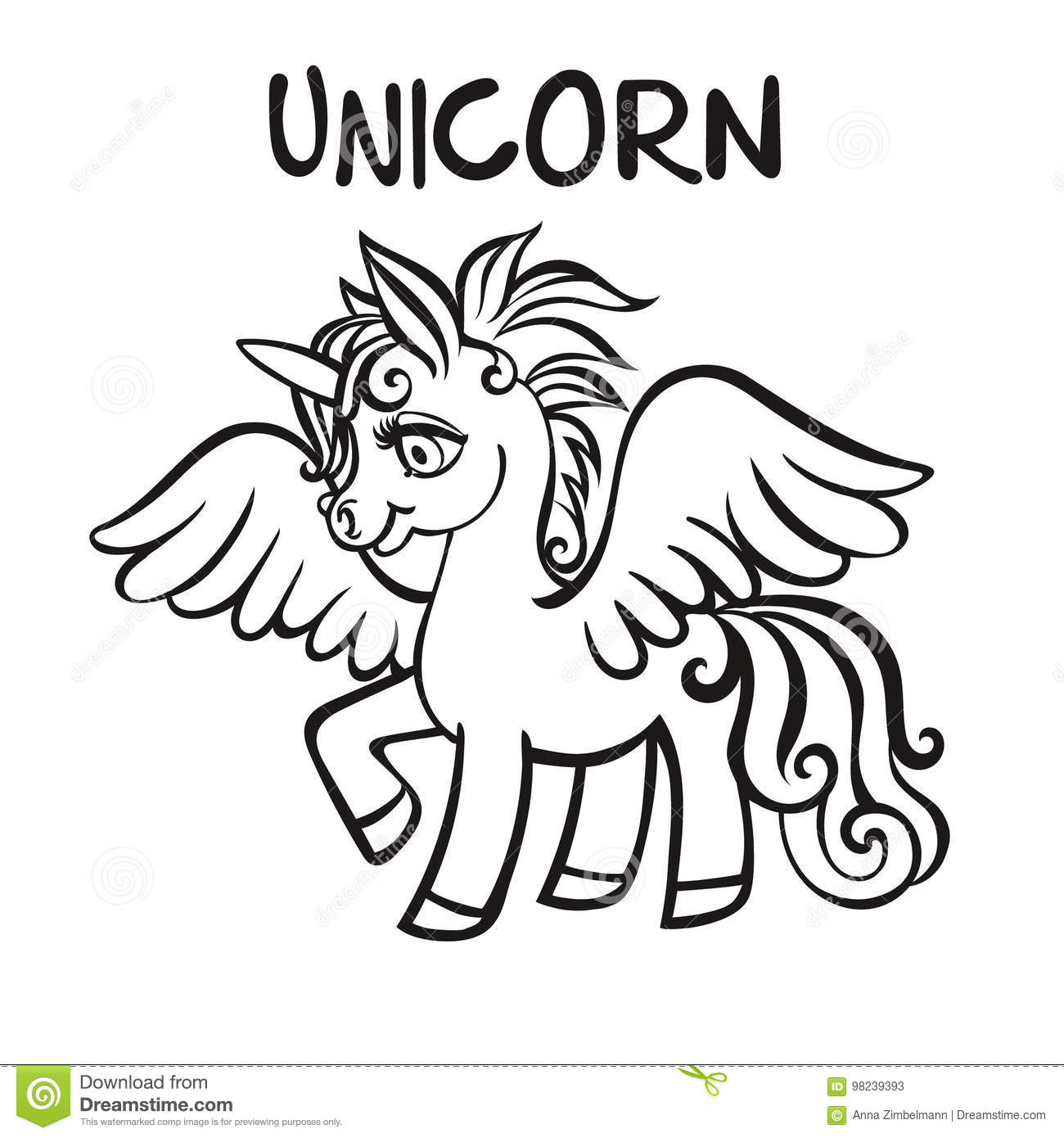 Unicorn Vector Artwork Coloring Book Pages For Adults And Kids