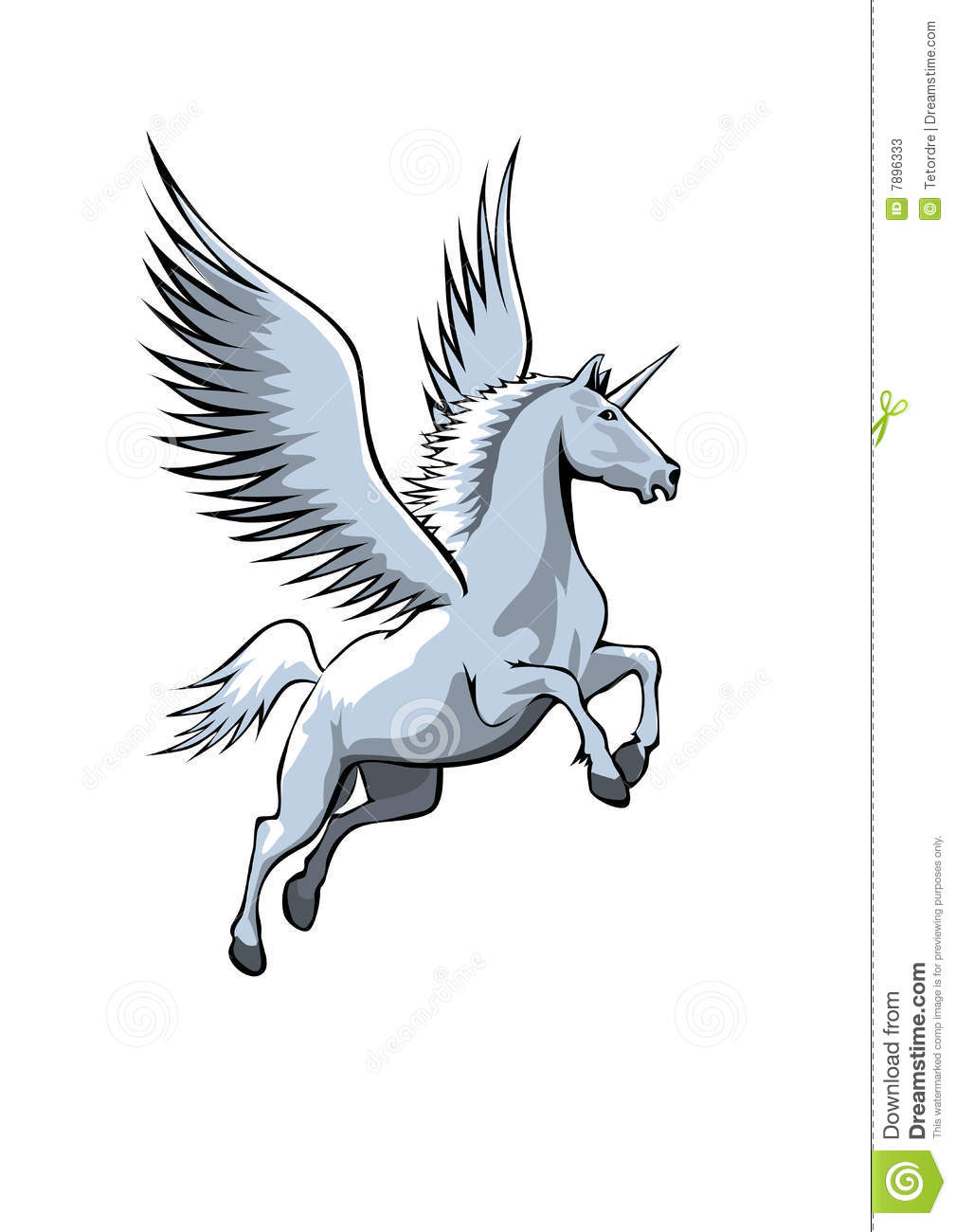 Unicorn With Wings Stock Photos - Image: 7896333