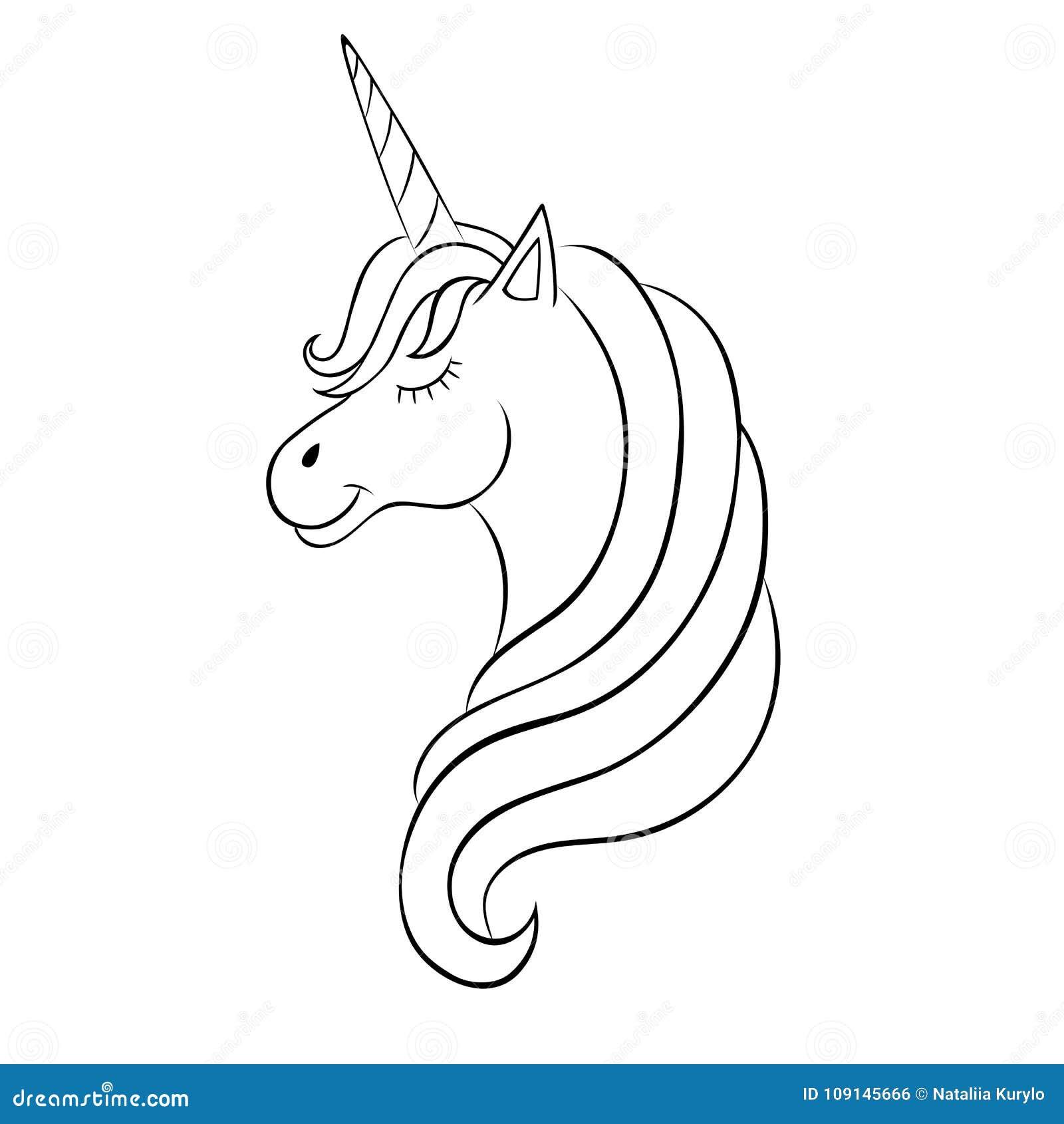 Unicornio Del Hada-cuento, Bosquejo Para El Libro De Colorear ...
