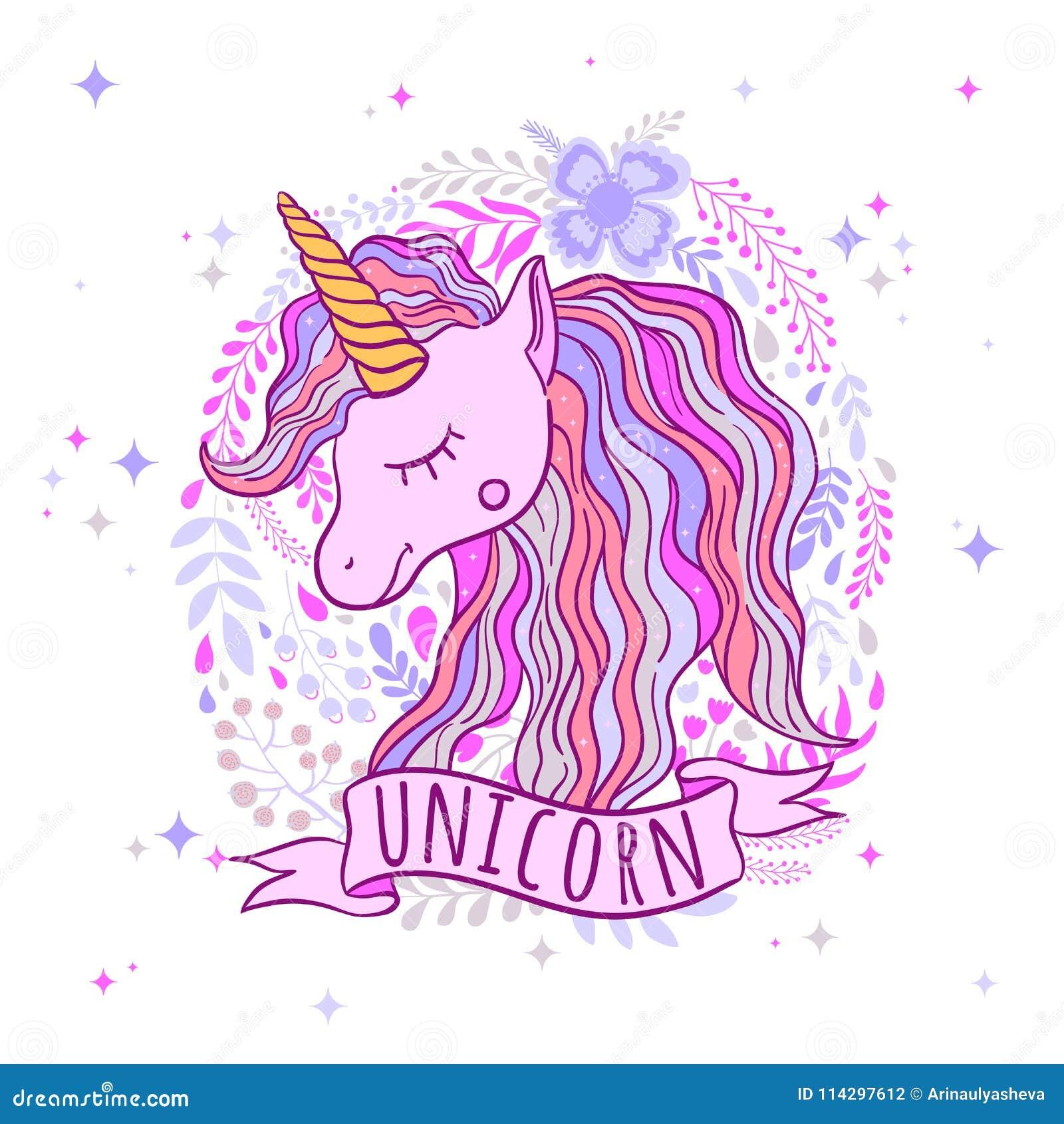 Unicornio Lindo Para Las Impresiones Para Imprimir Un Cartel La