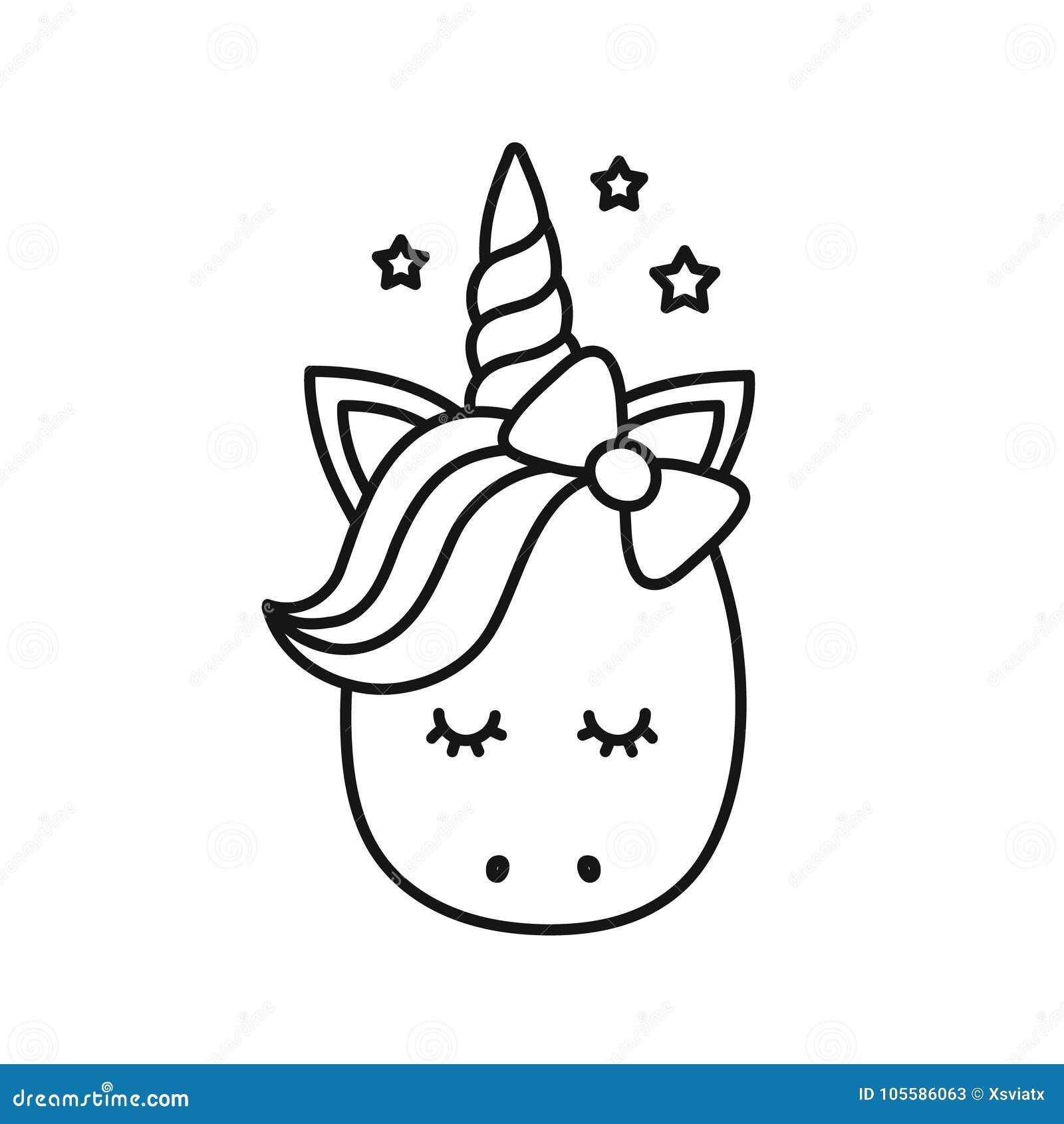 Unicornio Lindo Personaje De Dibujos Animados Del Vector