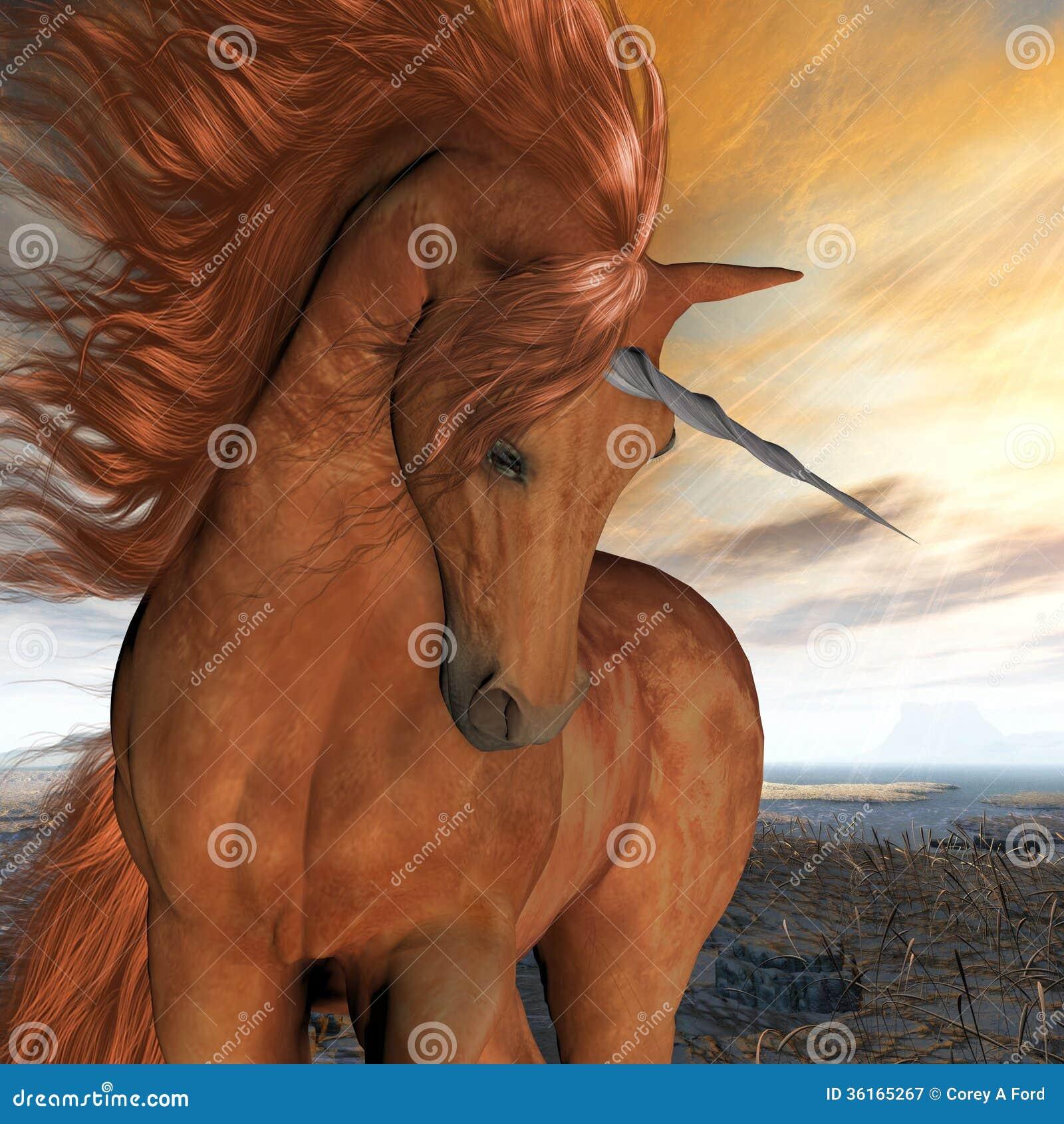 Unicornio quemado del cielo