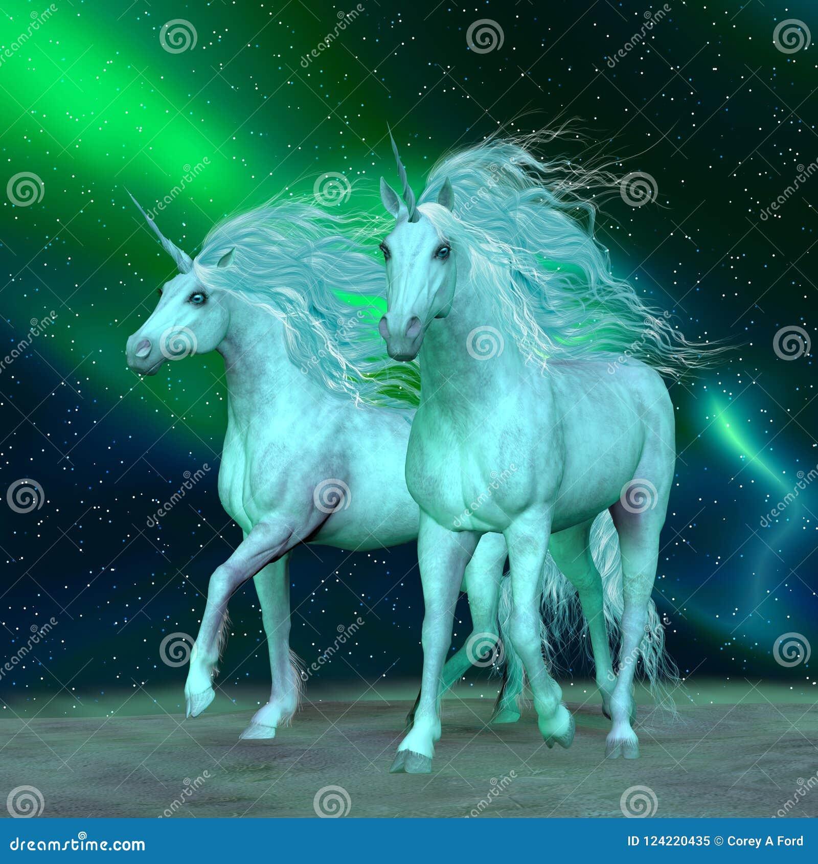 Unicornios de la aurora boreal