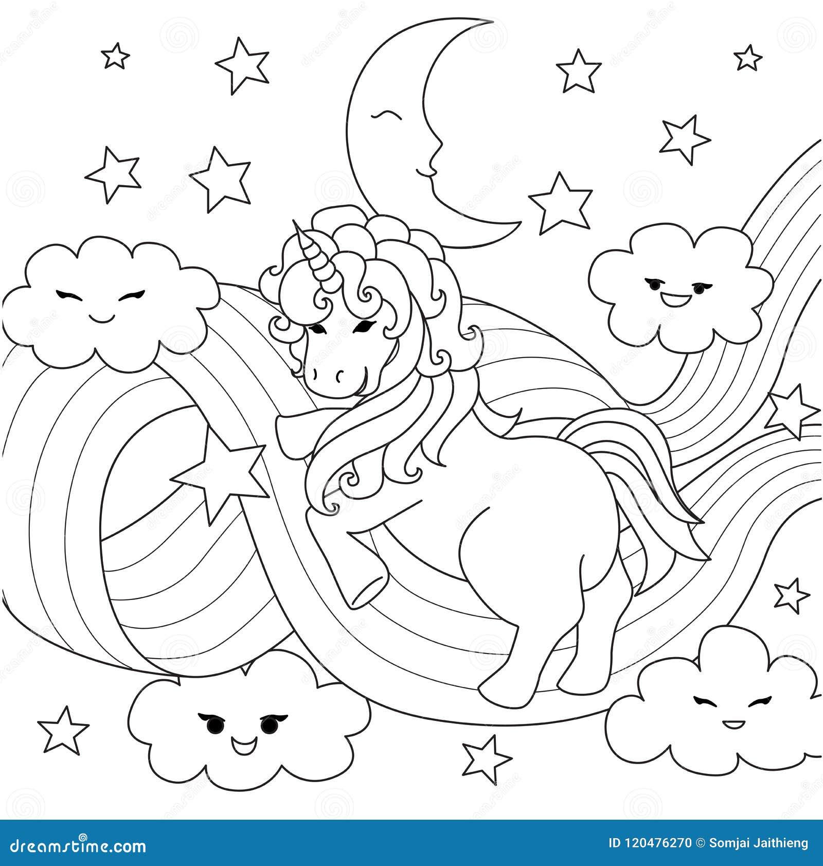 Unicorno Che Gioca Con Il Percorso Dell Arcobaleno Per L Elemento Di