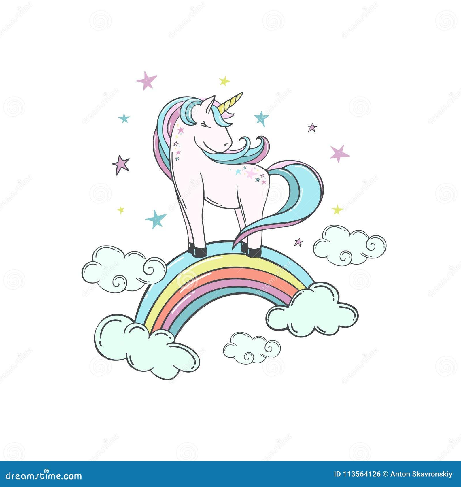 Unicorno con l arcobaleno