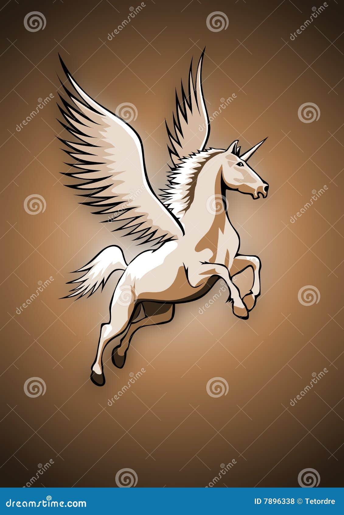 Unicorno Con Le Ali Fotografie Stock Libere da Diritti - Immagine ...