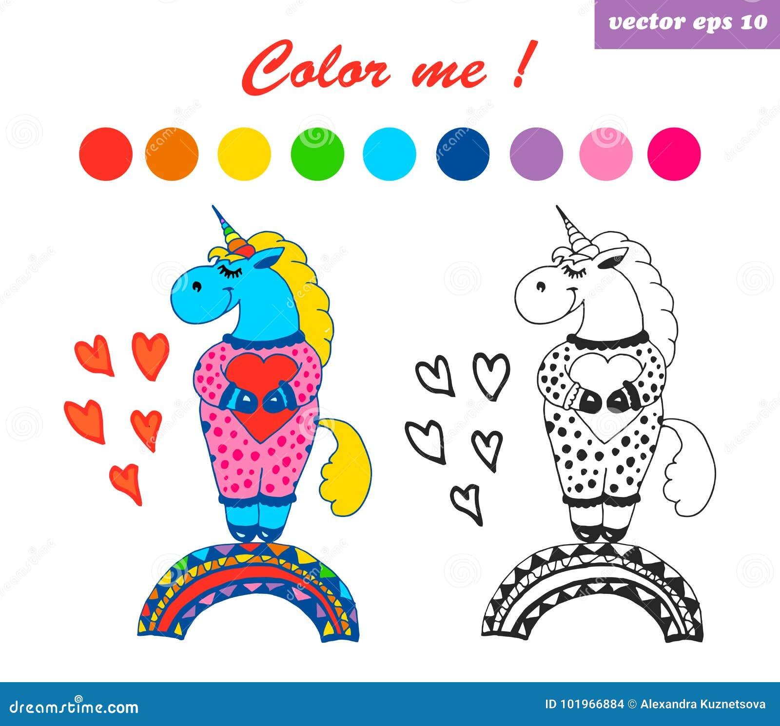 Unicorno Del Drem Del Libro Da Colorare Più Grande Illustrazione Di