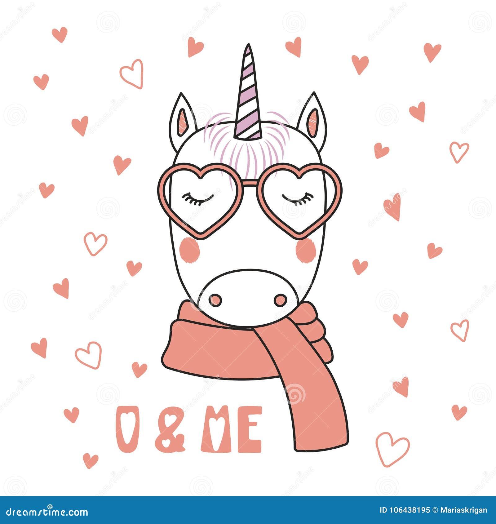 Cute Due Unicorni Su Una Priorità Bassa Del Cuore Vettoriali Stock