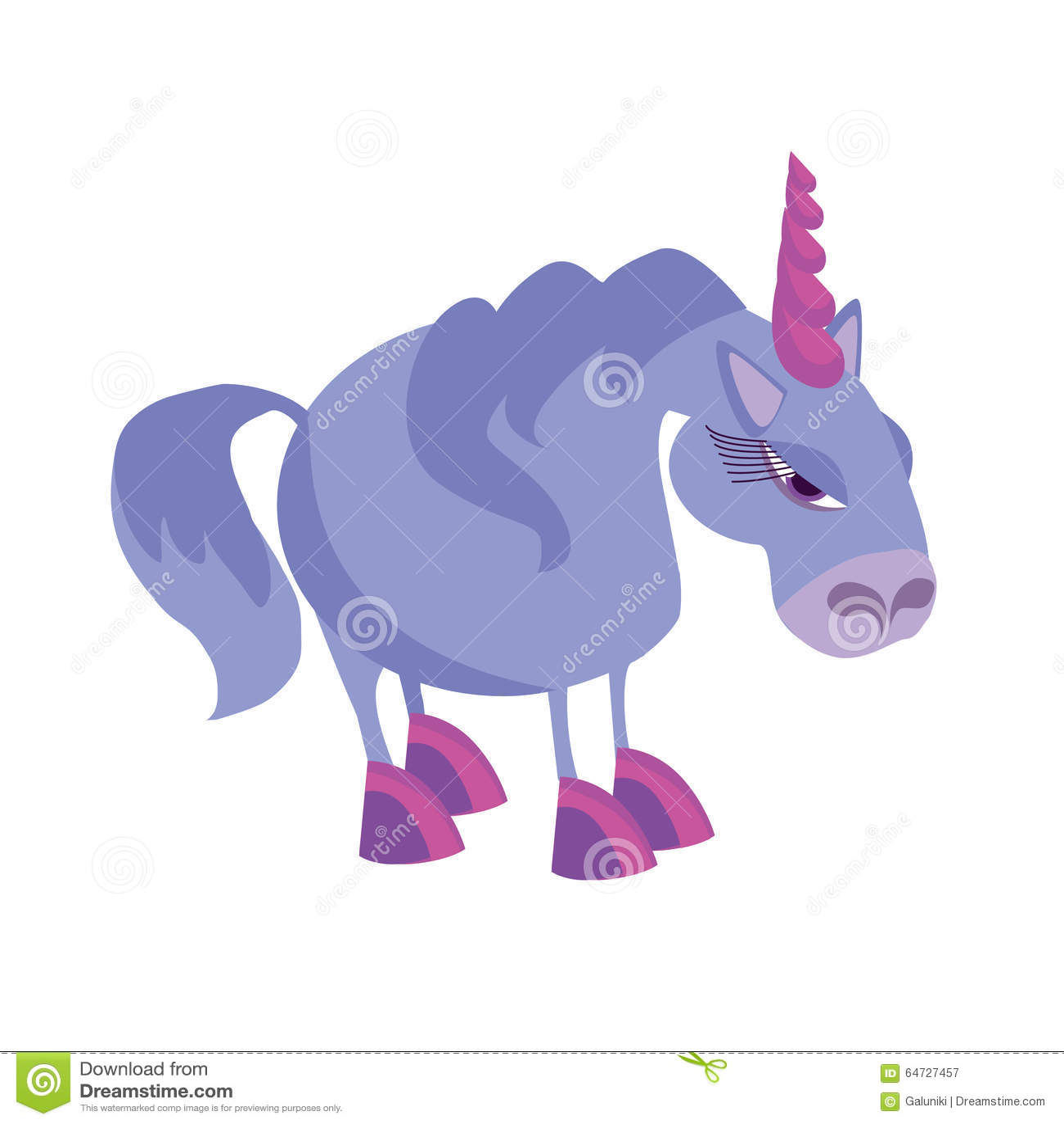 Unicorno viola triste illustrazione vettoriale for Unicorno triste