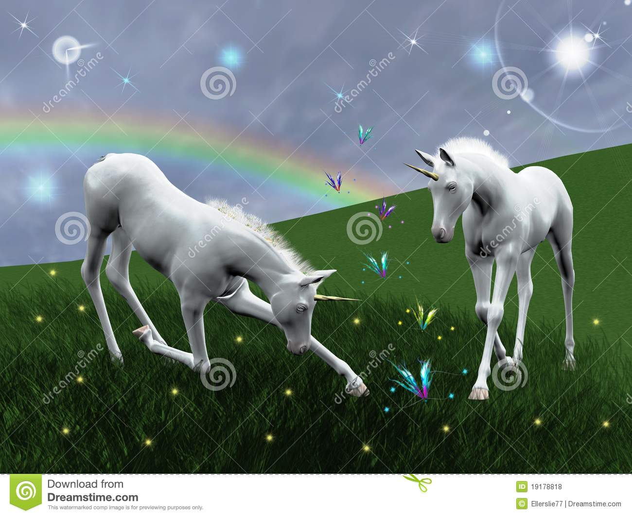 Stock Fotos E Imágenes: Unicorns Royalty Free Stock Photos