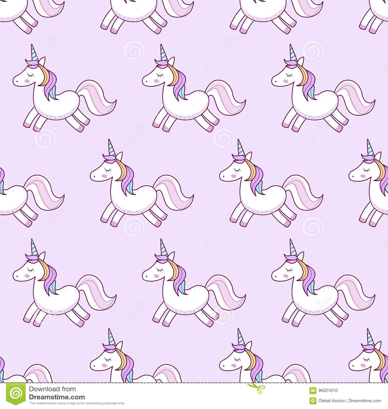 Unicorns Illustration De Vecteur Configuration Sans Joint Licornes D