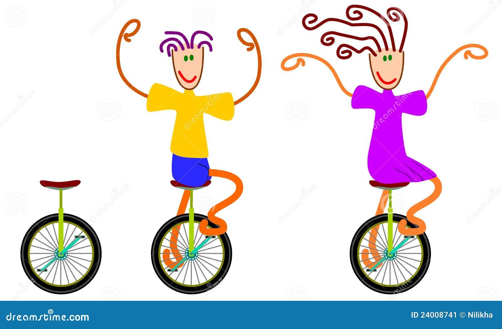 Unicycling Stock Image - Image: 24008741