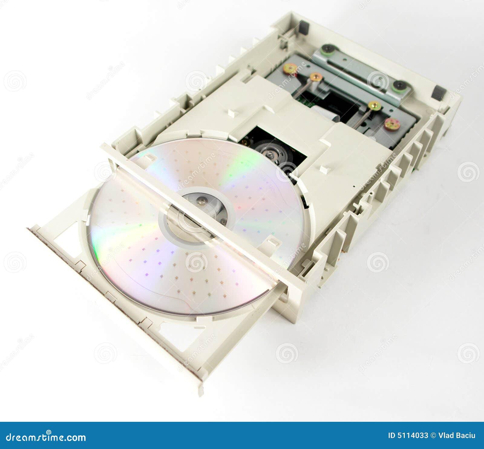 Unidad abierta del CD-ROM