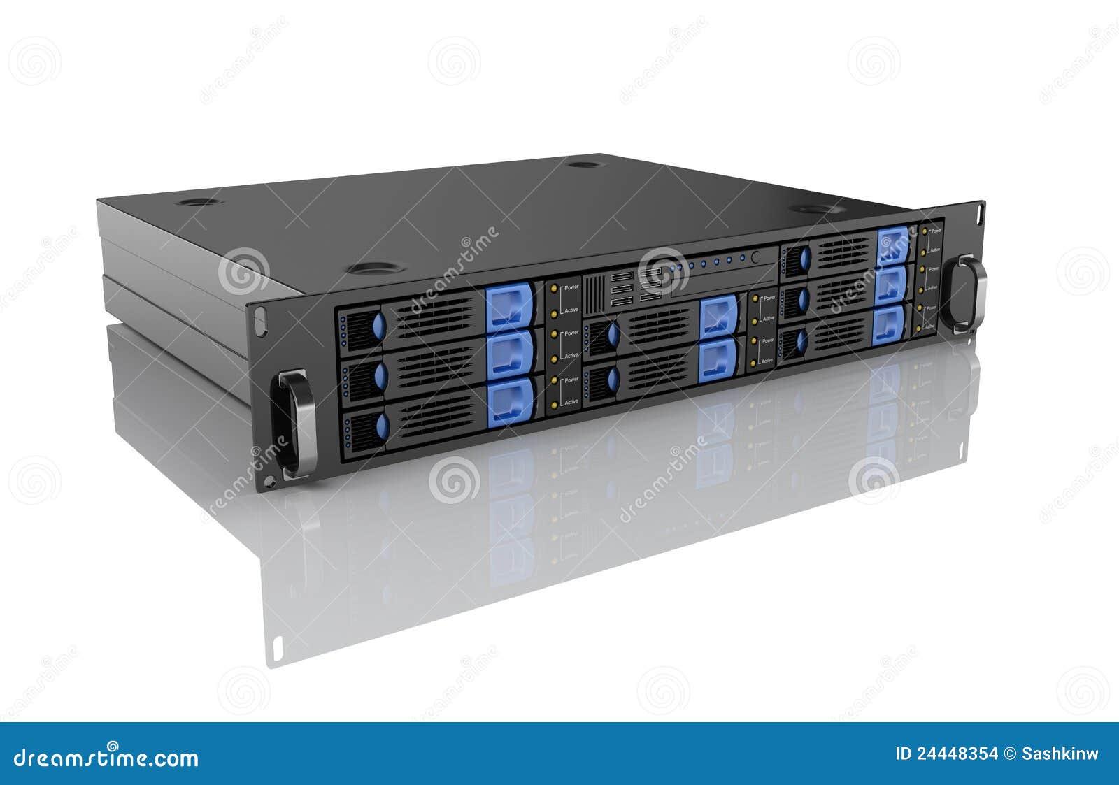Unidad del servidor del ordenador