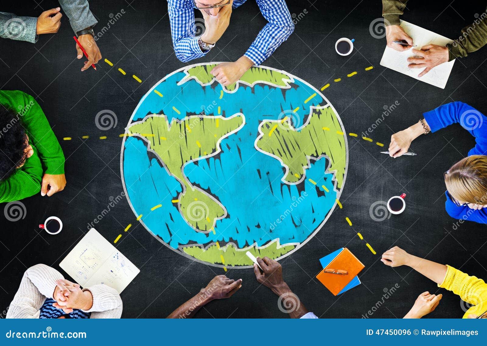 Unidad internacional de la reunión de la ecología global que aprende Concep