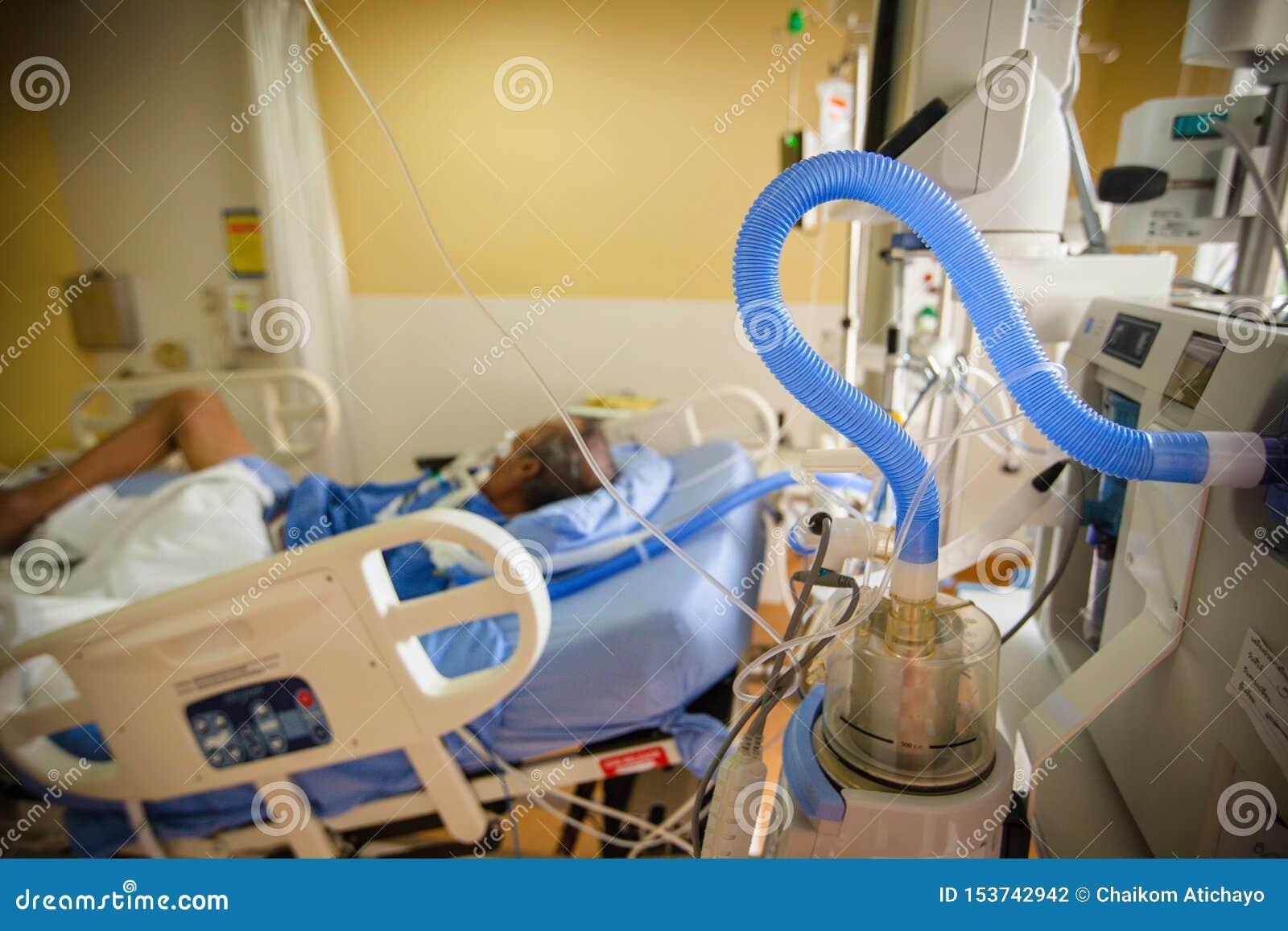 Unidade da ventilação do pulmão artificial