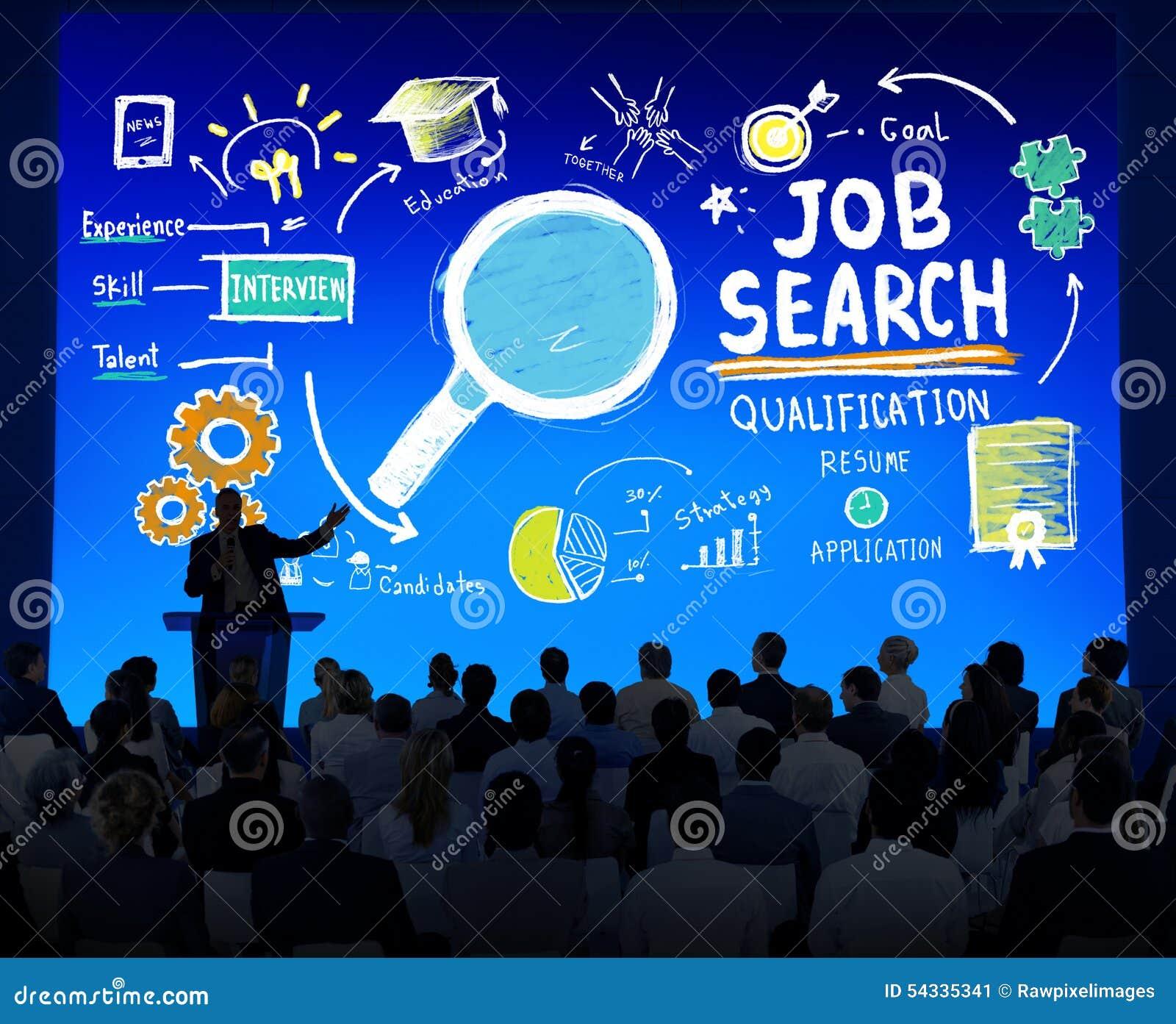 Unidade de negócio multi-étnico Job Search Seminar Conference Concept
