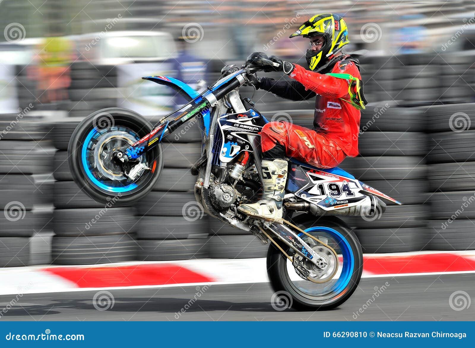 An unidentified bike rider