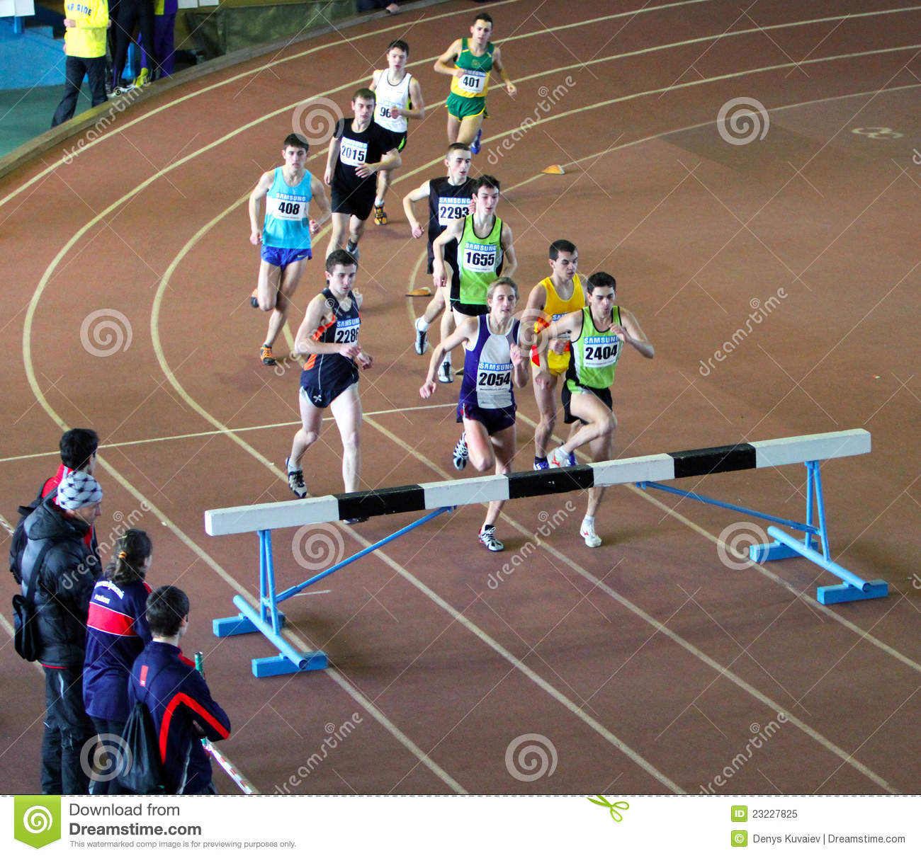Unidentified Boys Run 2,000 M. Steeplechase Race Editorial Image ...